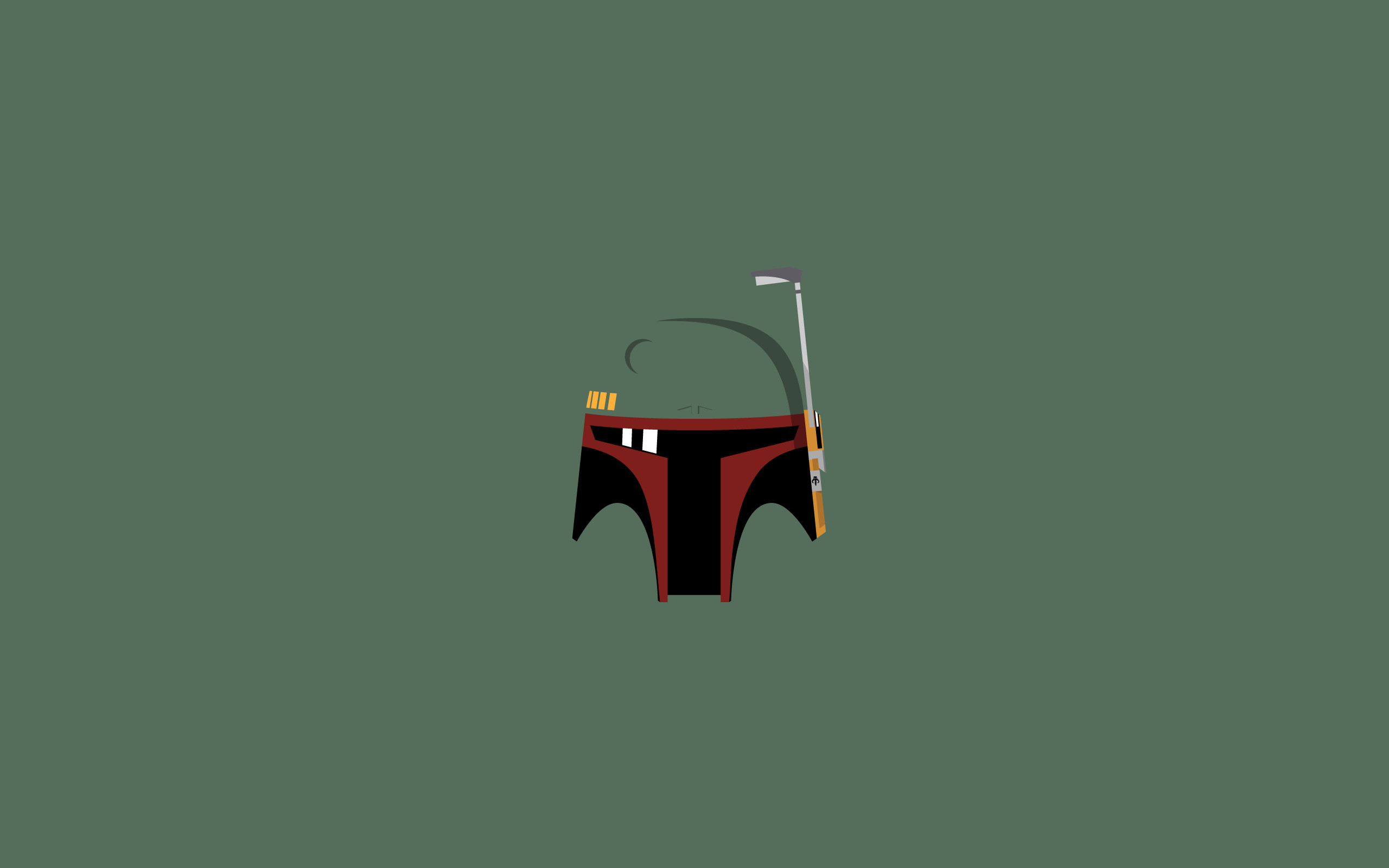 Star Wars, Boba Fett, Minimalism, Bounty Hunter, Helmet Wallpapers HD