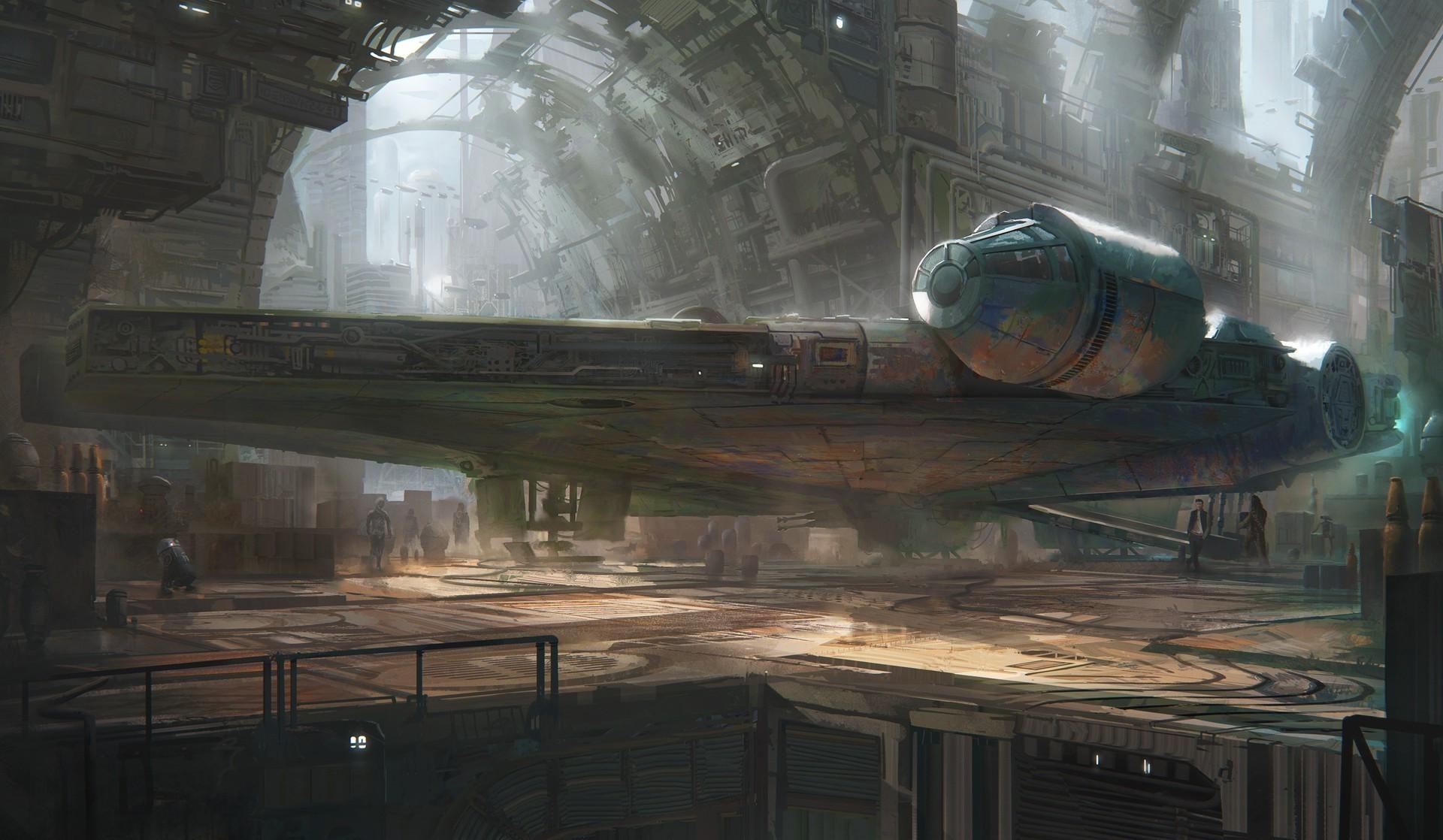 artwork, Science Fiction, Star Wars, Millennium Falcon Wallpapers HD /  Desktop and Mobile Backgrounds