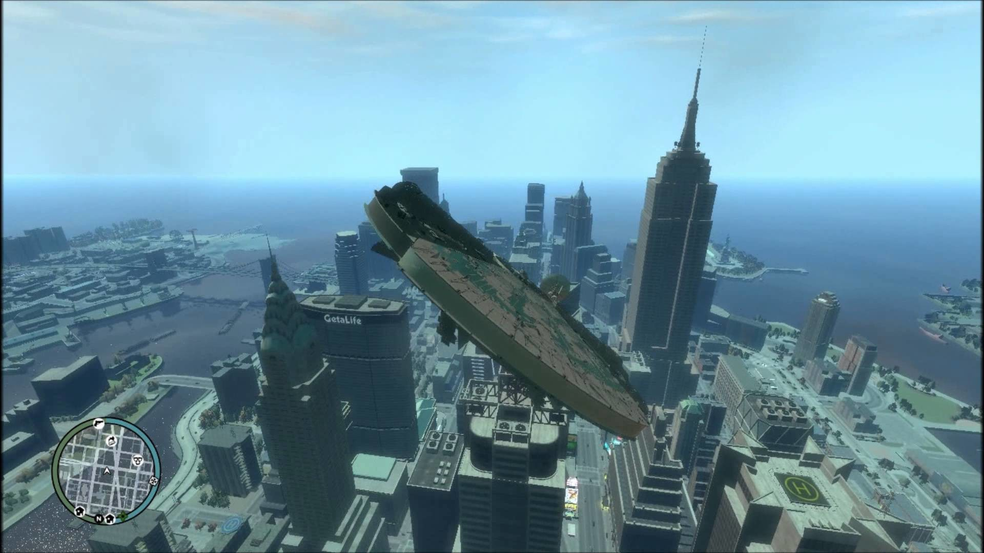 GTA IV: Star Wars Millenium Falcon MOD