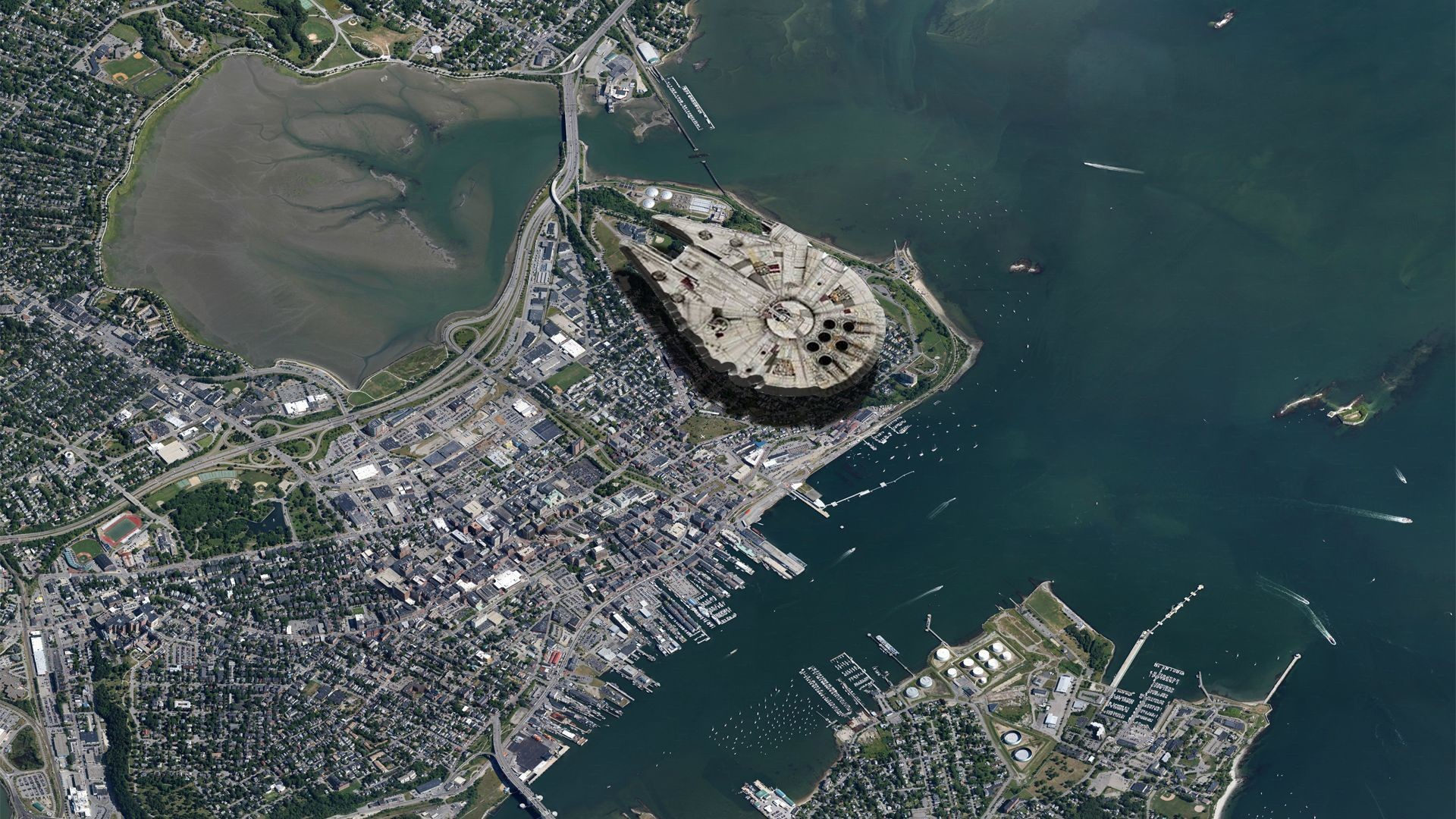 I think its time we talked about the Millenium Falcon hidden under the  eastern prom in Portland.