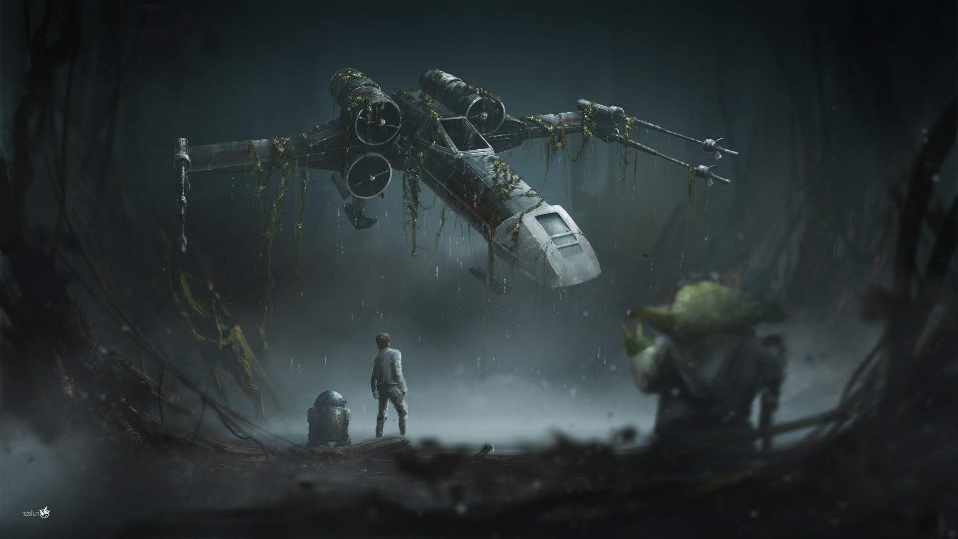 Star Wars, Star Wars: The Empire Strikes Back, X wing, R2 D2, Yoda, Luke  Skywalker Wallpapers HD / Desktop and Mobile Backgrounds
