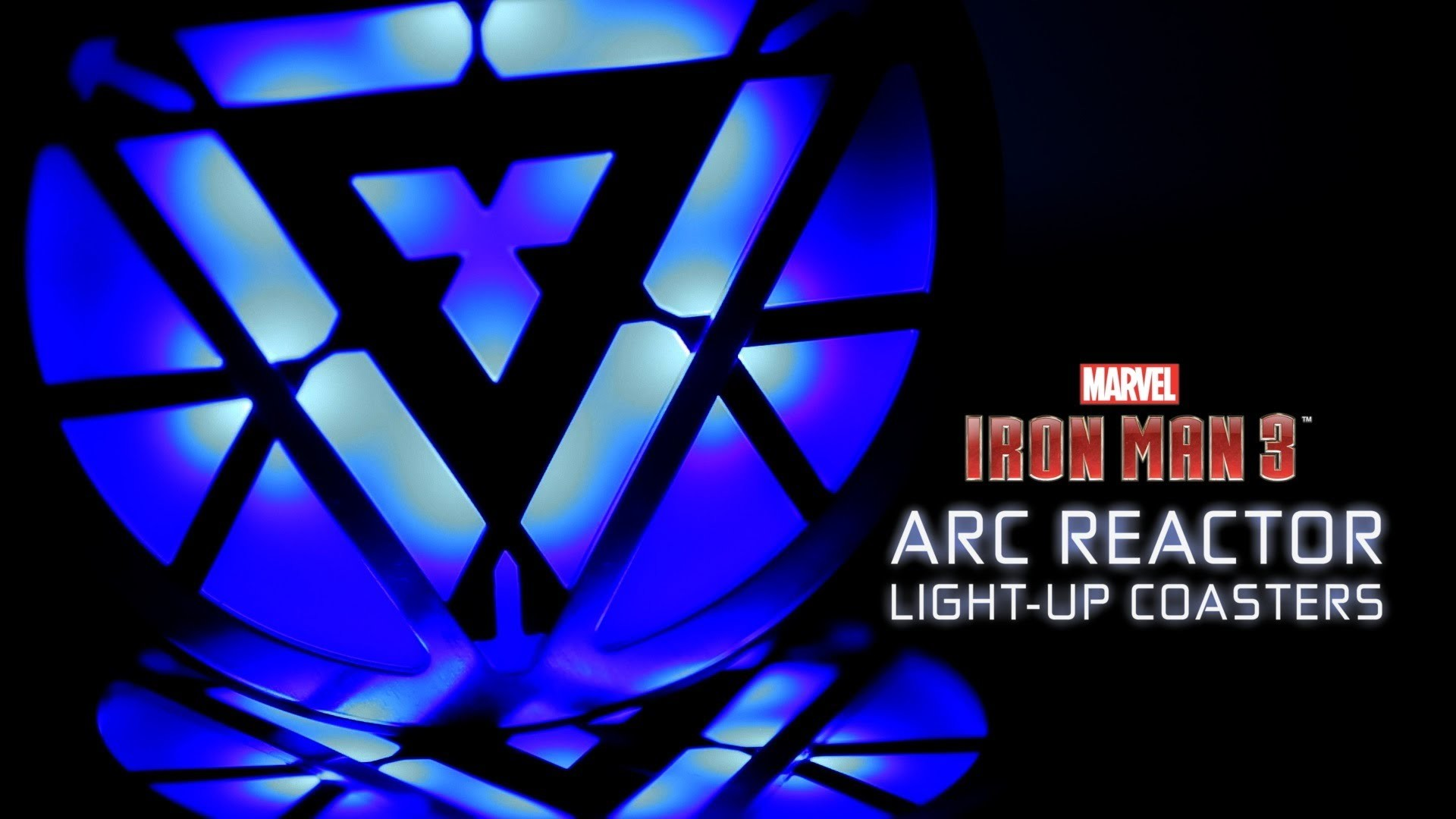 Marvel Iron Man 3 Arc Reactor Light-Up Coasters from ThinkGeek – YouTube