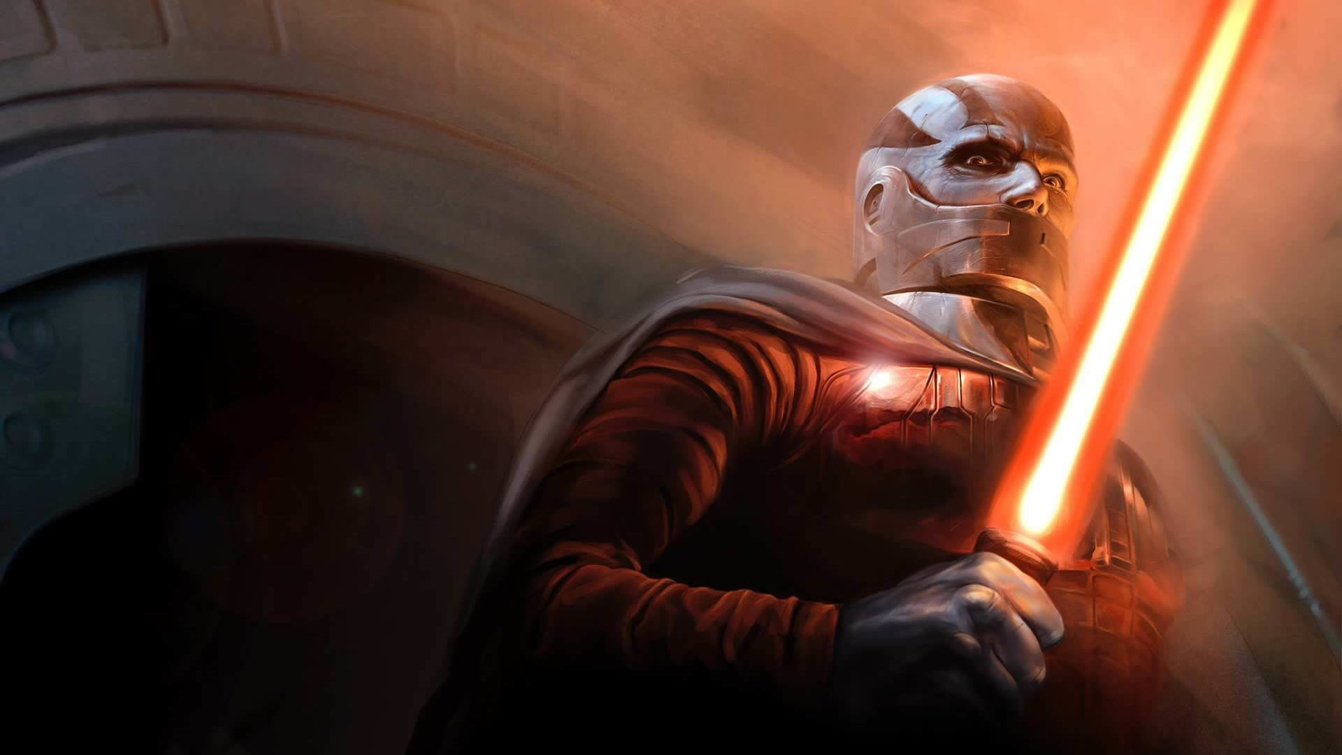Preview wallpaper star wars the old republic, bald, character, lightsaber,  cloak 1920×1080