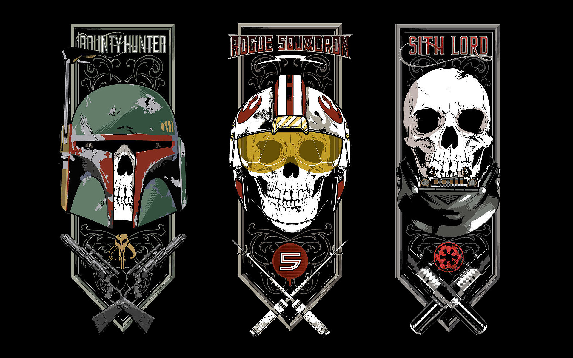 Boba Fett Darth Vader Fan-art Luke Skywalker Movies Science Fiction Star  Wars …
