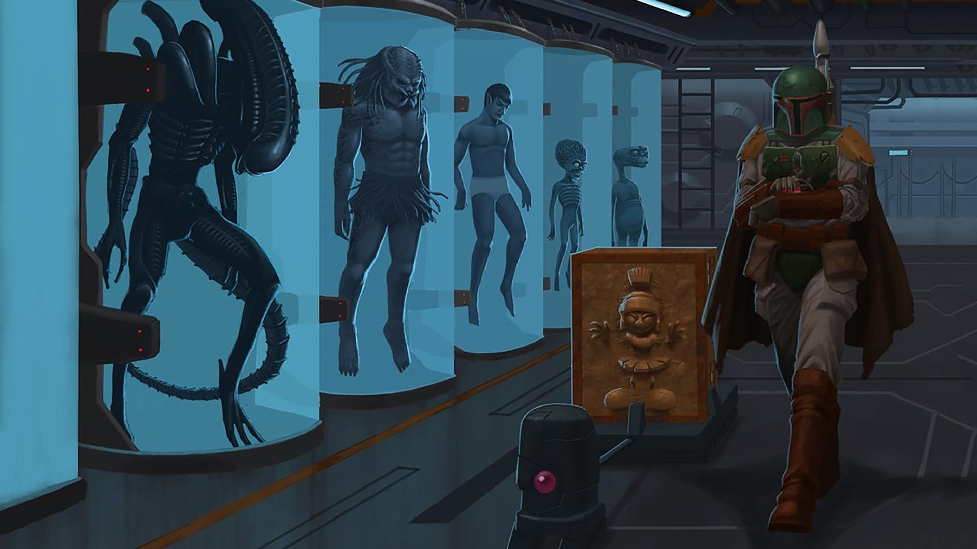 Star Wars, Boba Fett, Alien (movie), Predator (movie), Spock, E.T., Marvin  The Martian, Mars Attacks, Bounty Hunter, Star Trek Wallpapers HD / Desktop  and …
