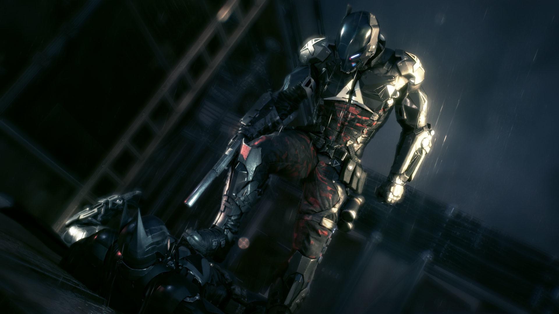 Batman Arkham Knight – The Arkham Knight beating up Batman  wallpaper