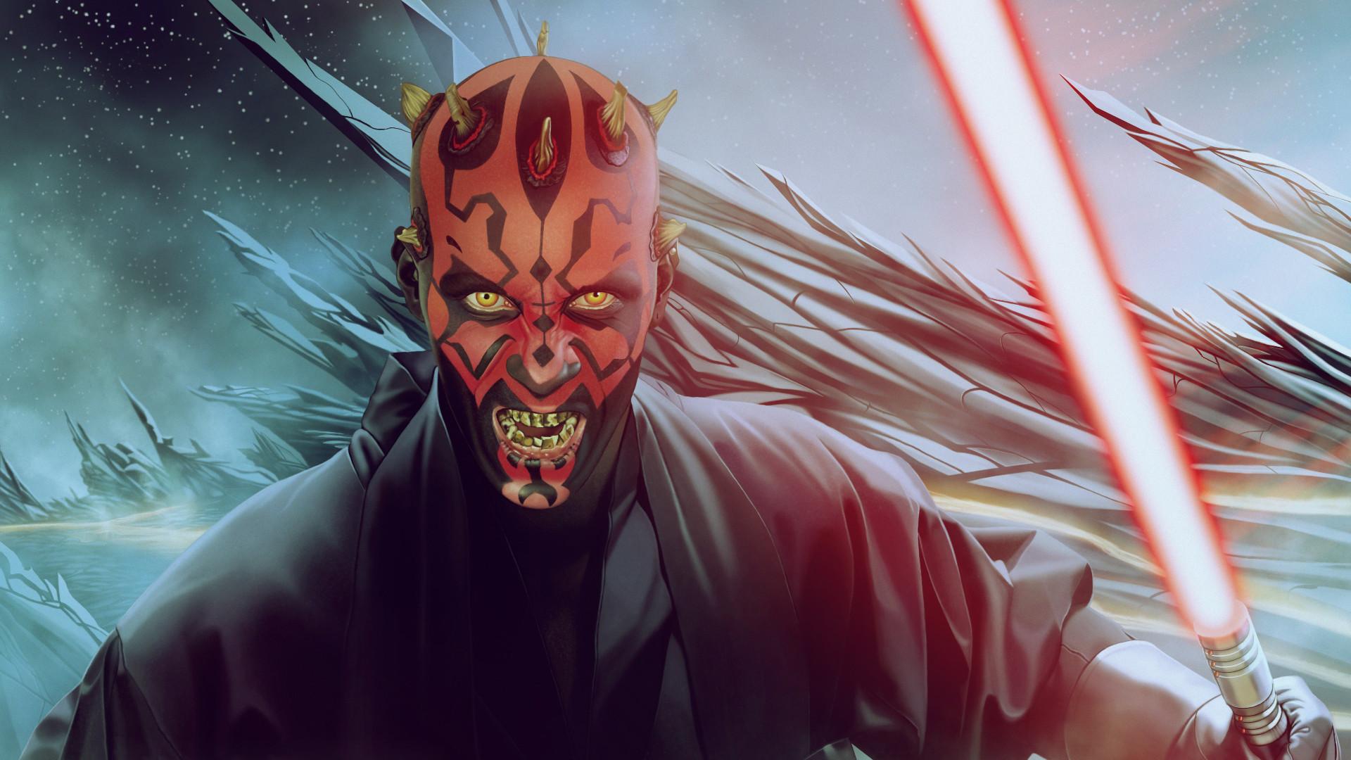 Sci Fi – Star Wars Darth Maul Lightsaber Wallpaper