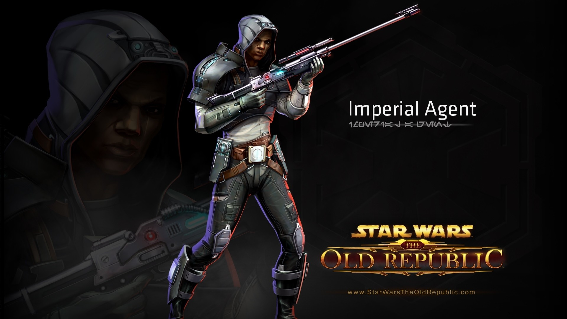Wallpaper star wars the old republic, imperial agent, character,  gun