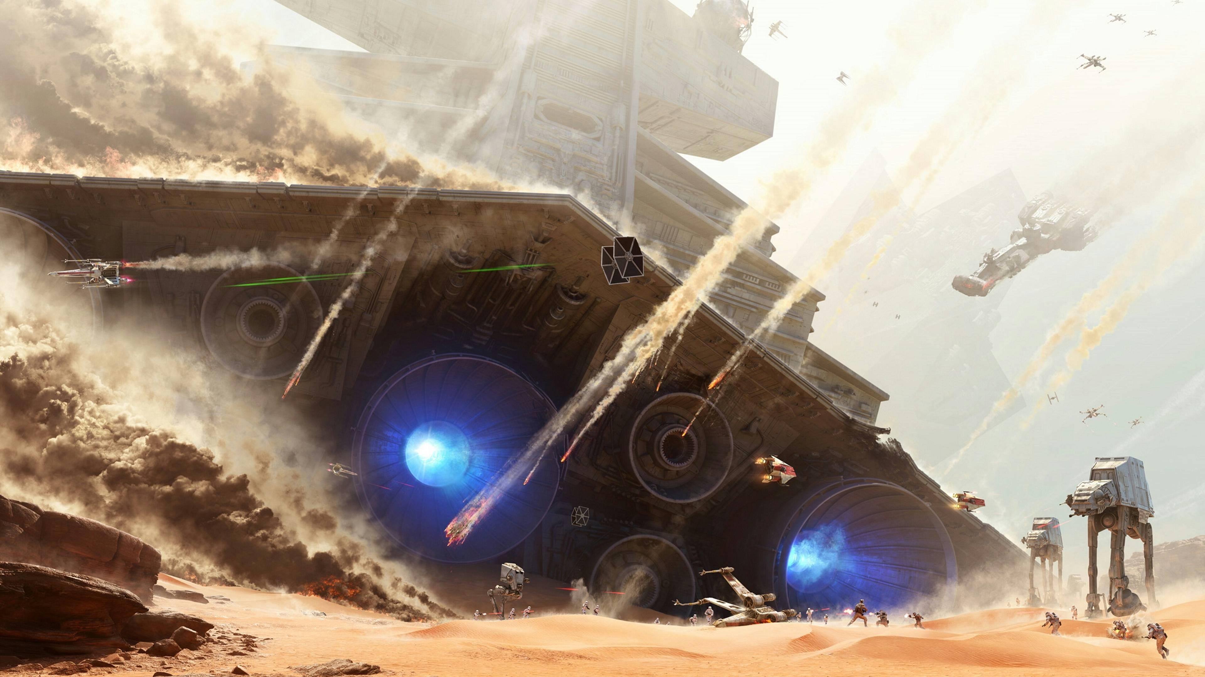 Fallen Imperial Star Destroyer[3840×2160] : wallpaper