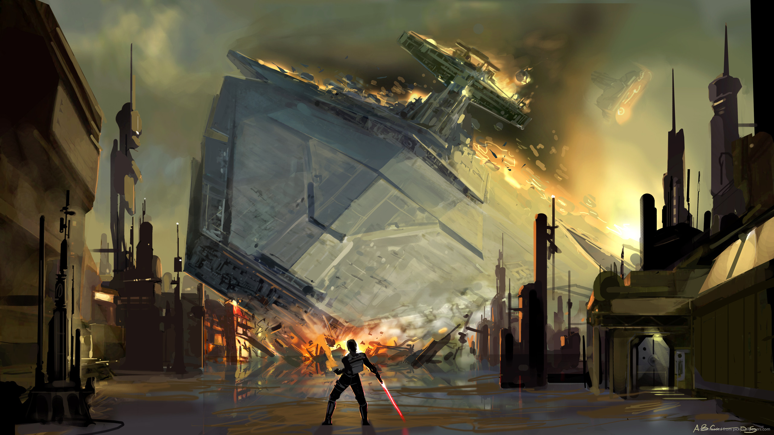 SWTFU Star Destroyer force pull for 2560×1440