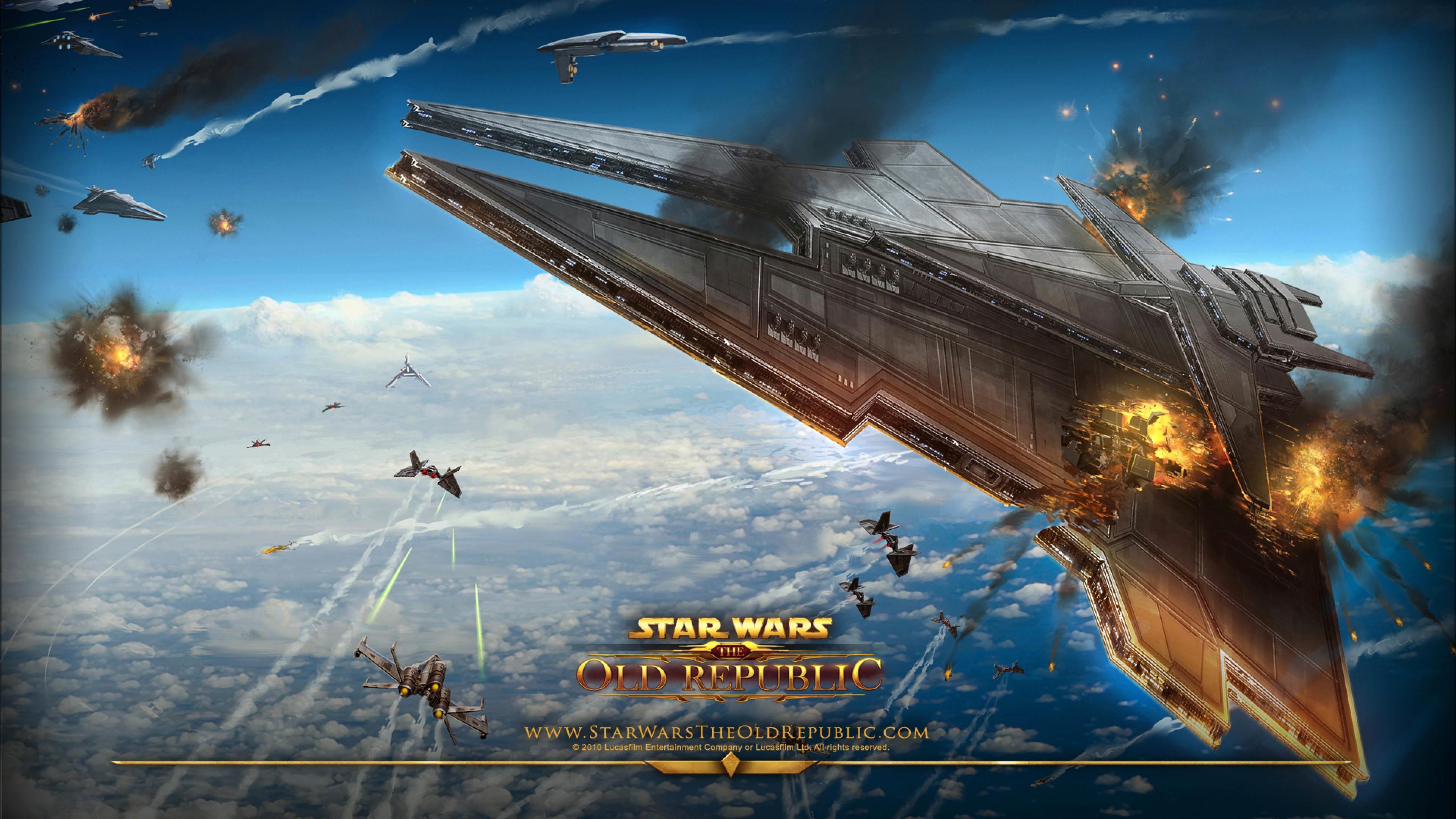 Star Wars: The Old Republic – Star Destroyer exploding wallpaper