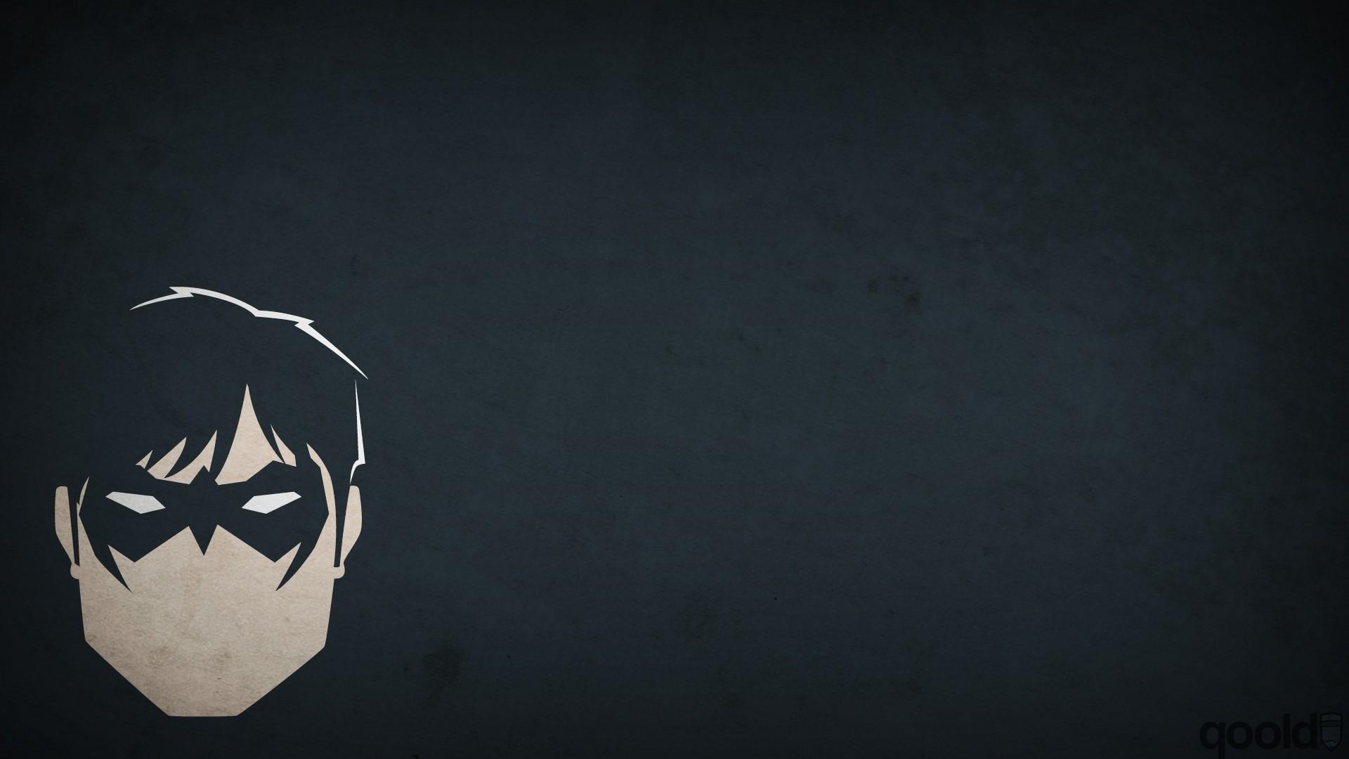 minimalism, Artwork, Blo0p, Superhero, DC Comics, Nightwing