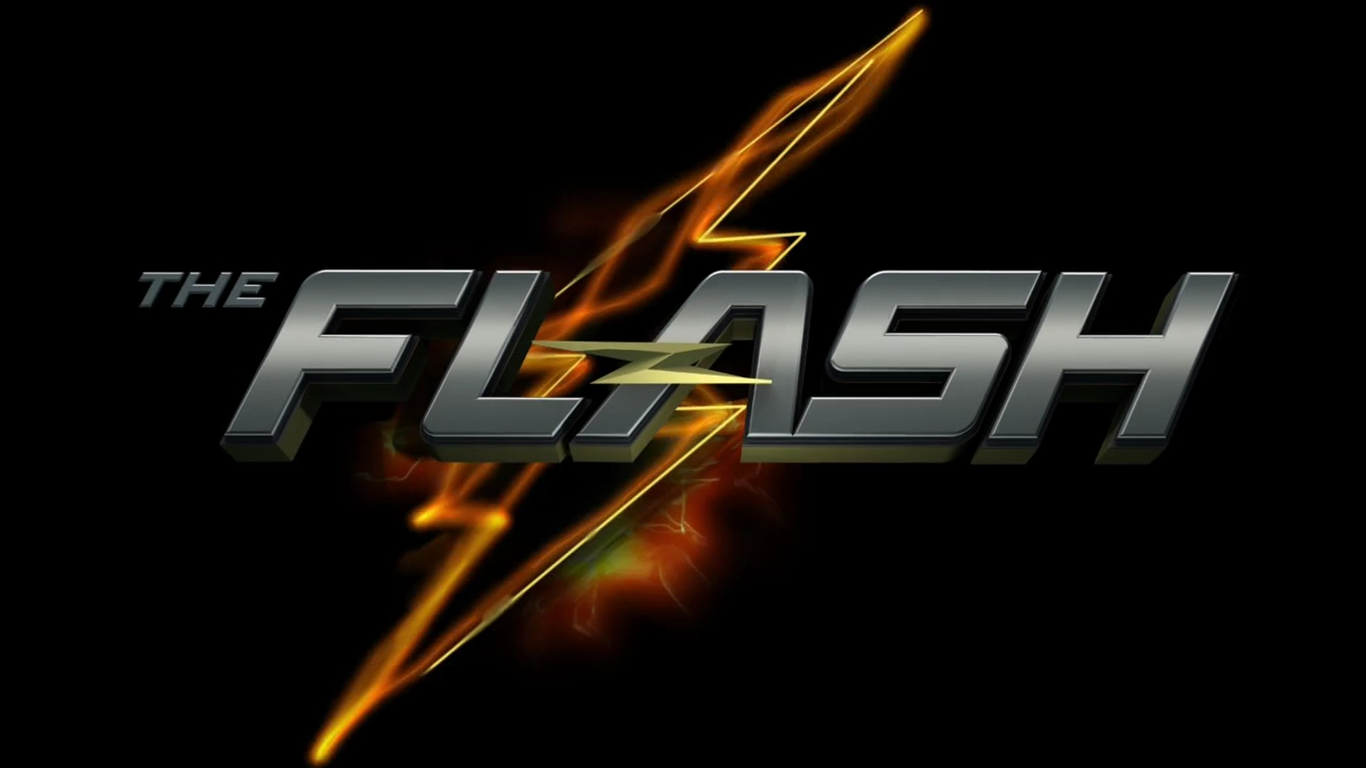 The Flash (2014) title card w/Lightning Bolt background