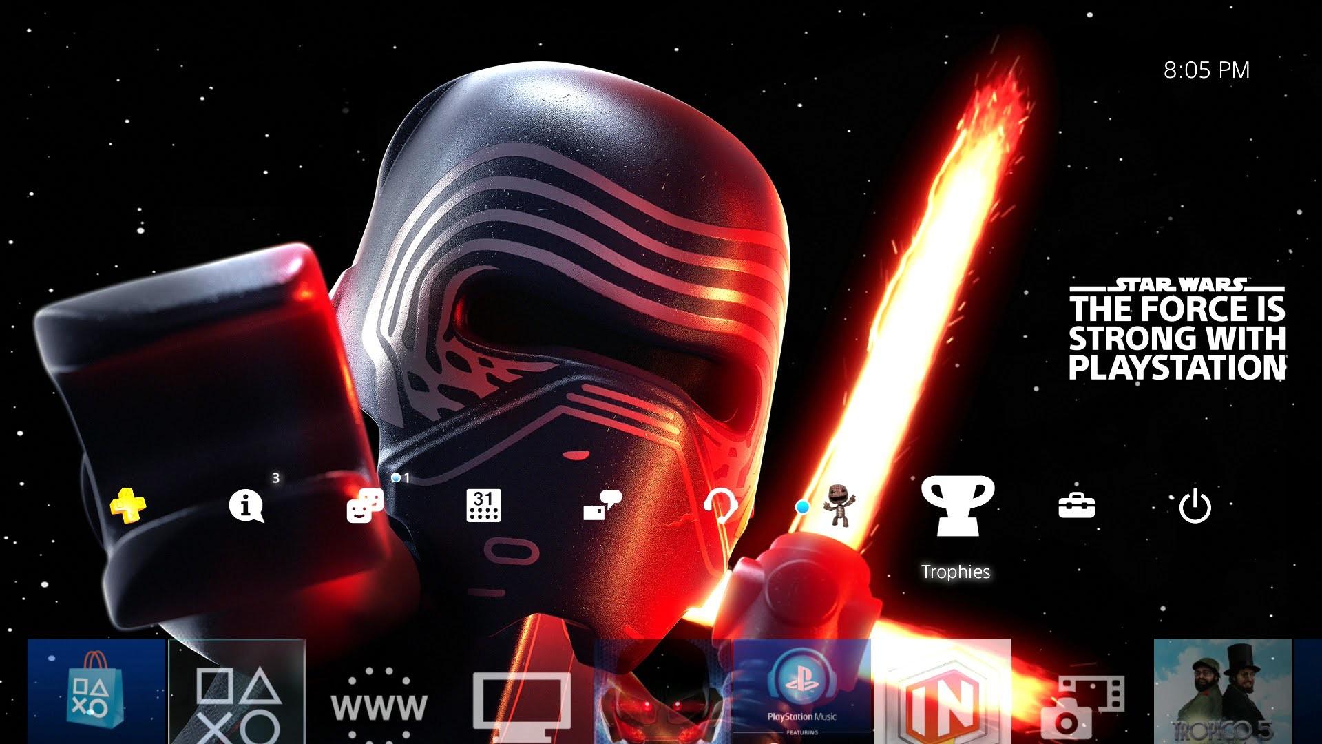 LEGO Star Wars Kylo Ren Playstation Theme