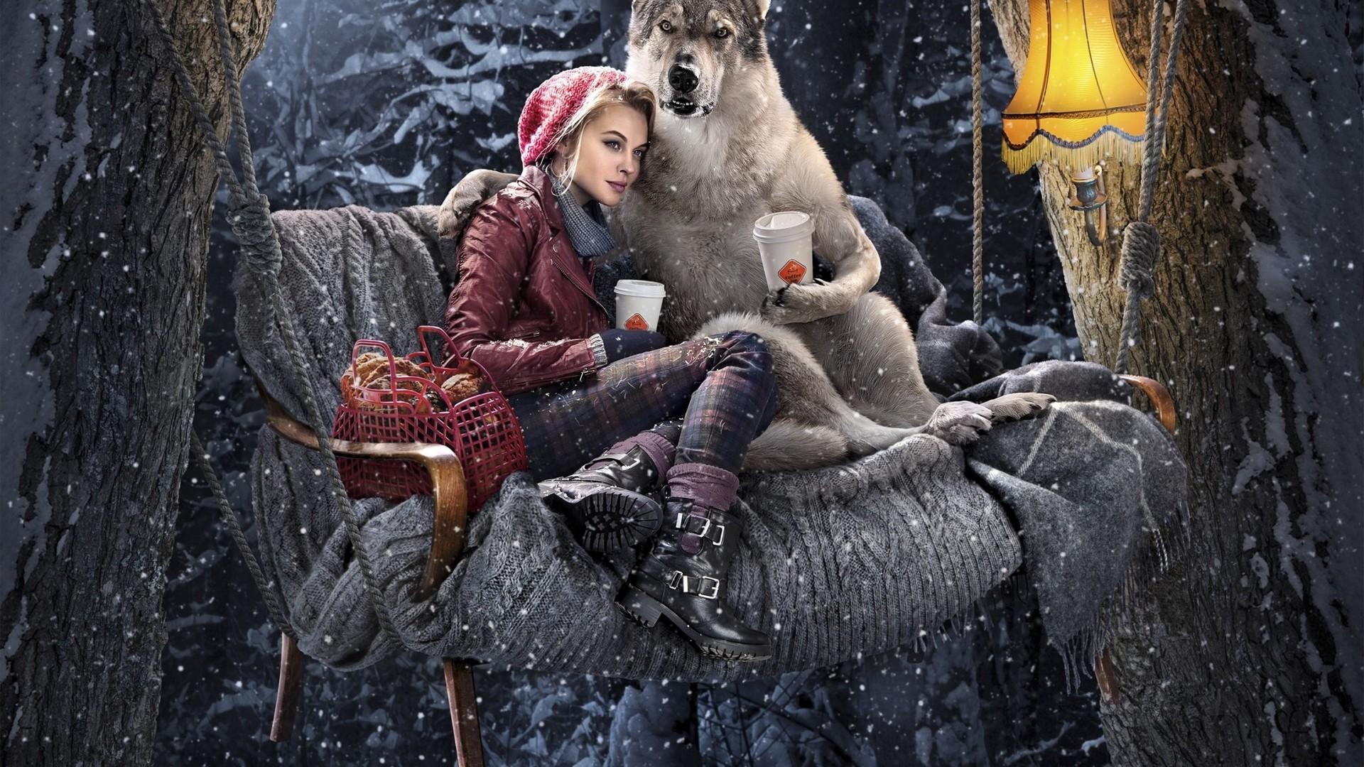 Fantasy – Red Riding Hood Wallpaper