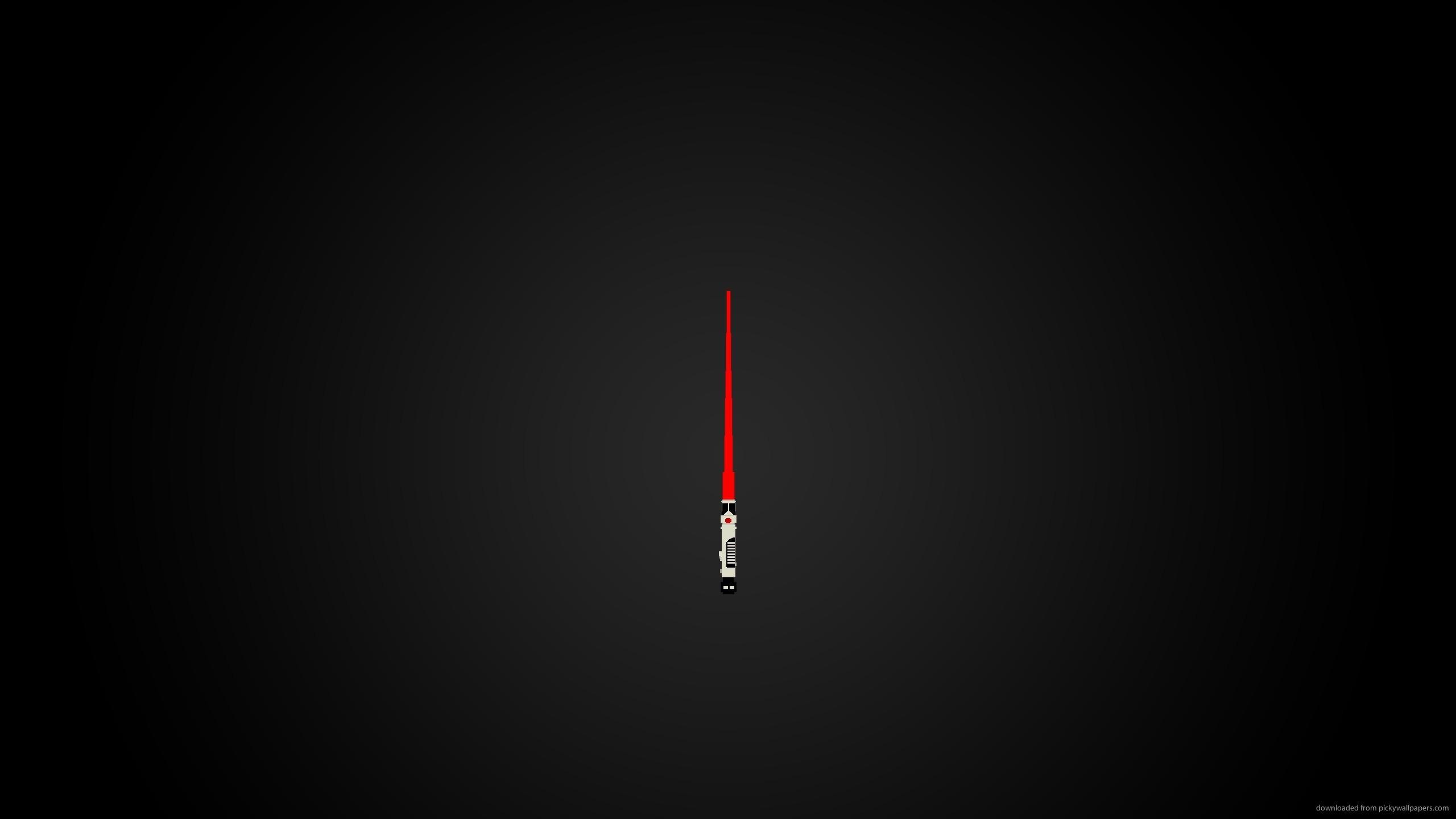 Red Lightsaber for 2560×1440