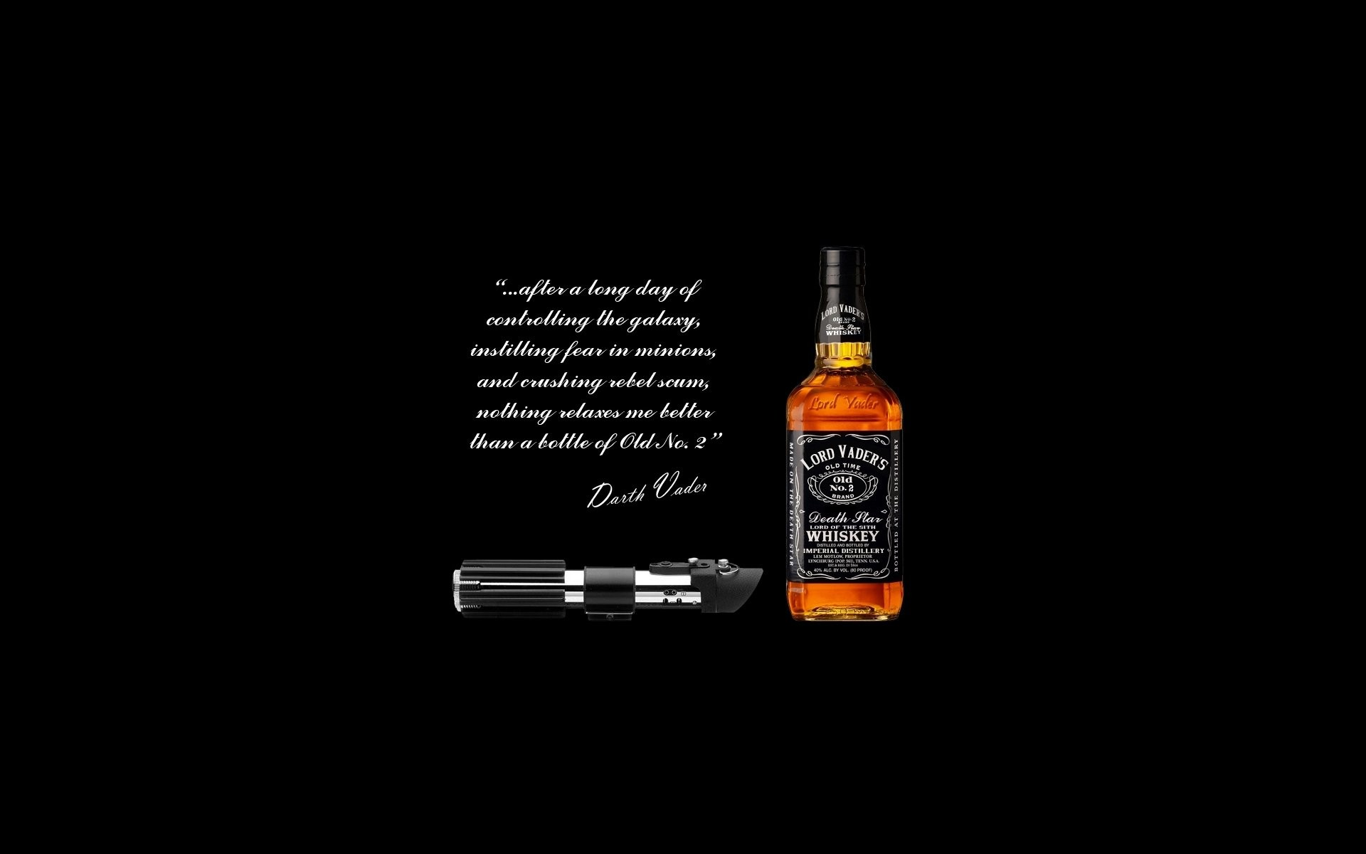Humor – Movie Humor Star Wars Black Alcohol Darth Vader Whisky Lightsaber  Wallpaper