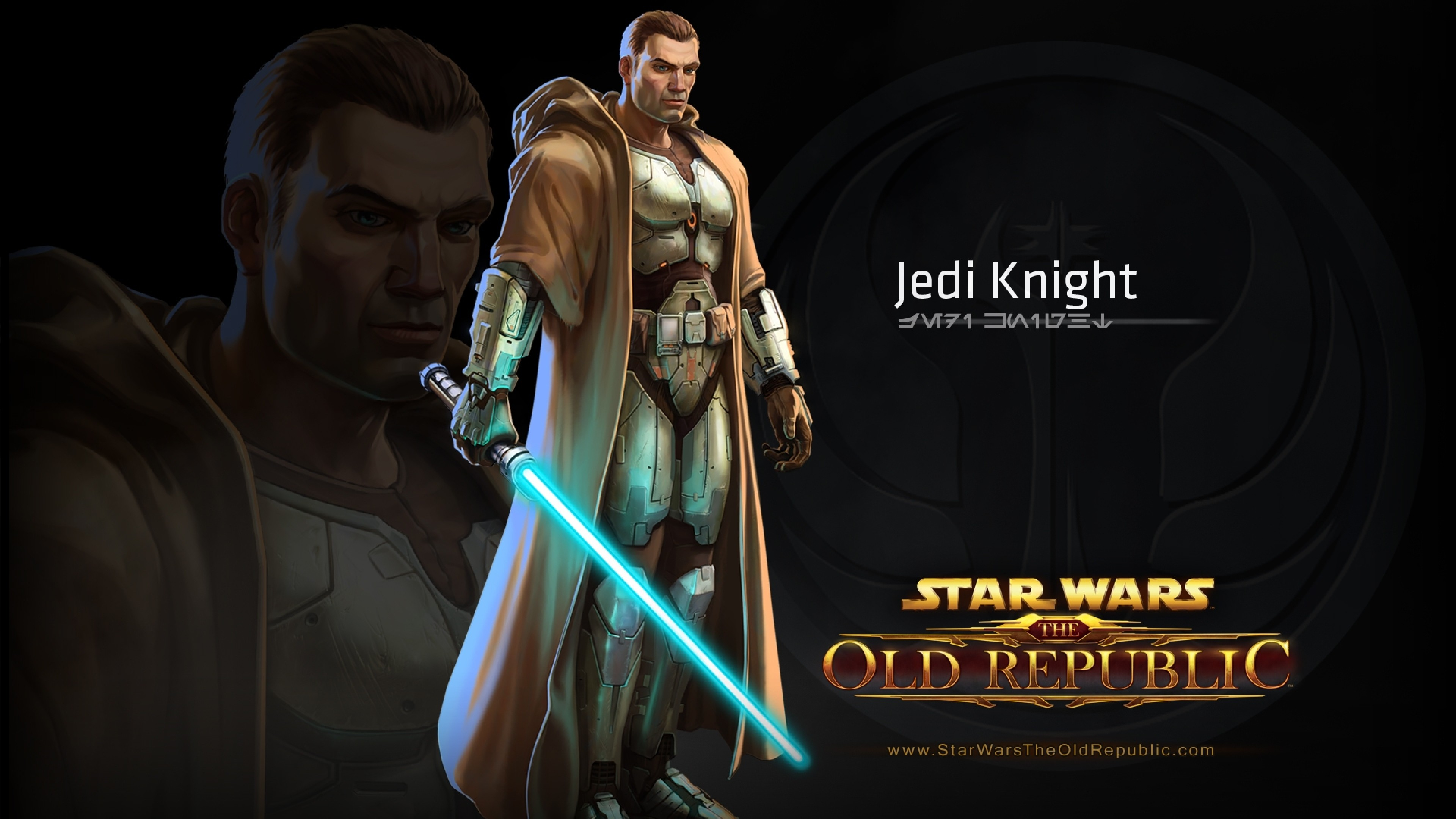 Preview wallpaper star wars the old republic, jedi knight, character,  lightsaber 3840×2160