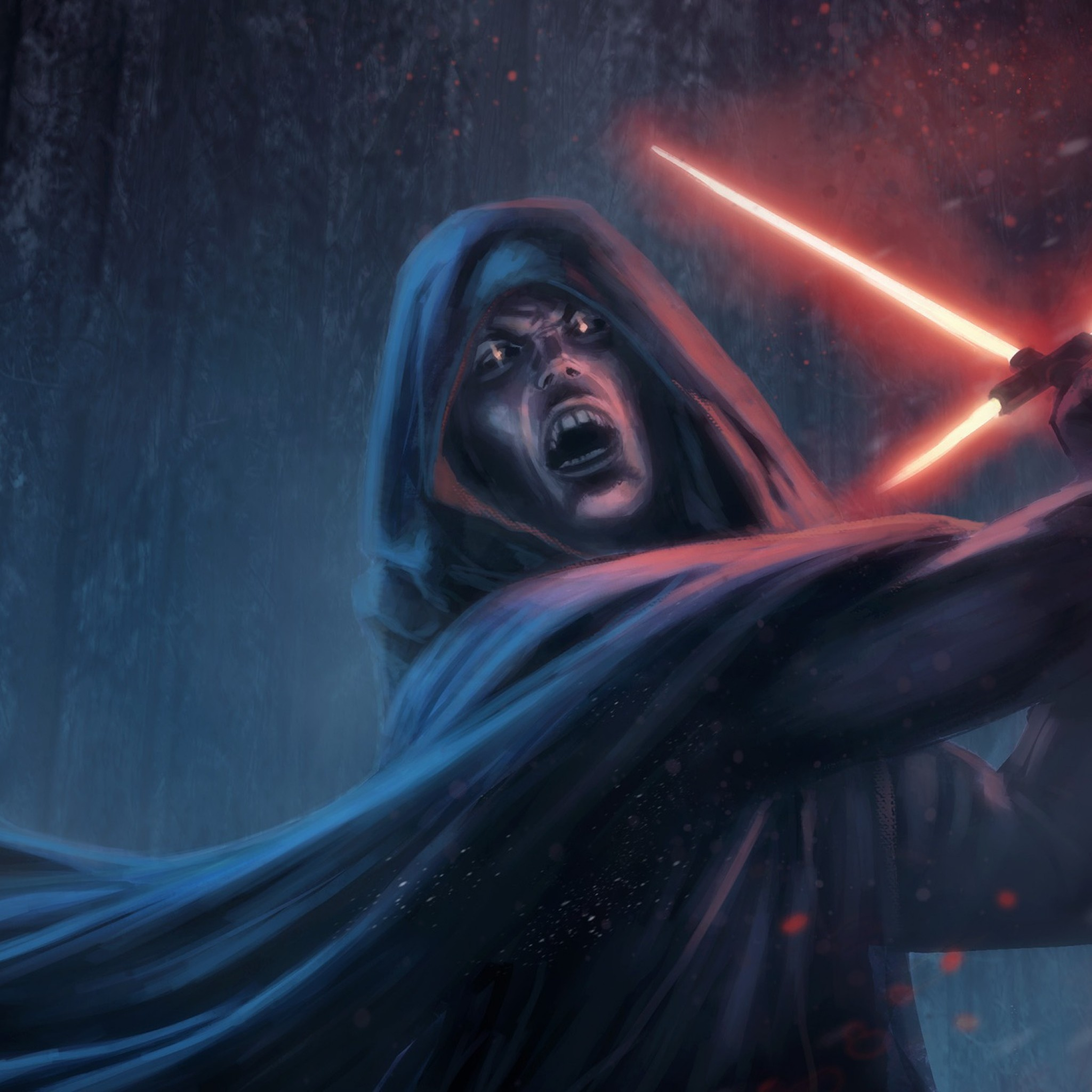 Preview wallpaper star wars episode vii – the force awakens, sith,  lightsaber 2048×2048