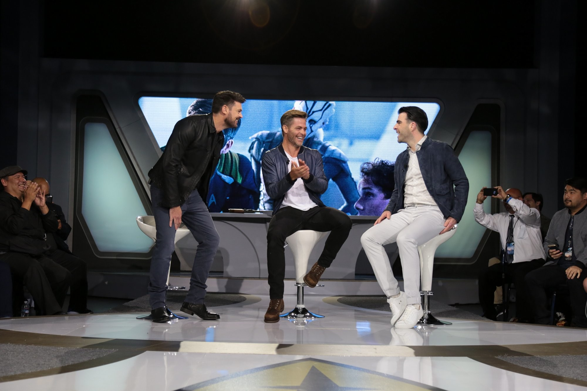 Star Trek Beyond images Karl Urban, Chris Pine, Zachary Quinto | 'Star Trek  Beyond' Fan Event HD wallpaper and background photos