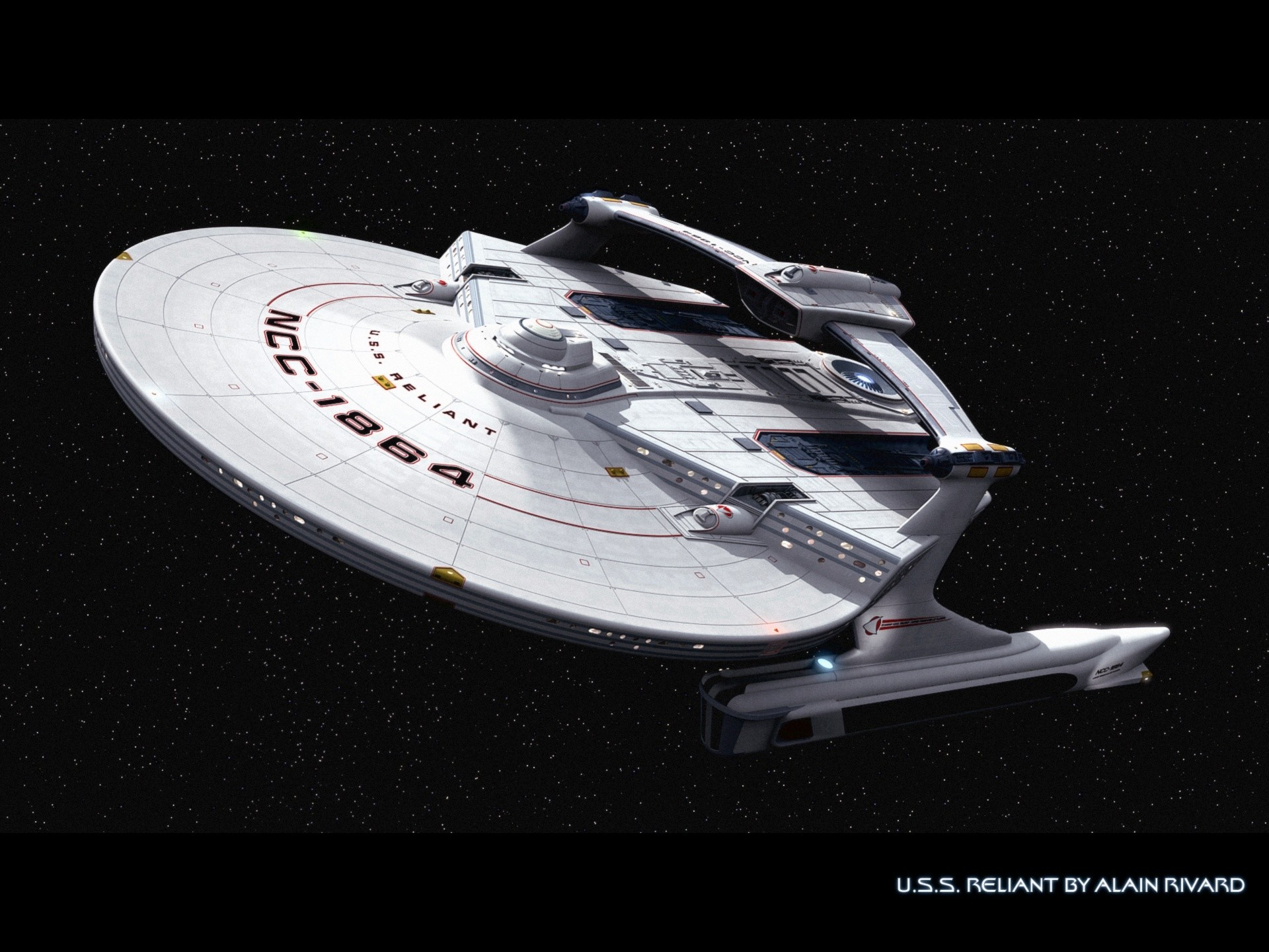 Star Trek U.S.S. Reliant, awesome wallpaper. Here is the source link.