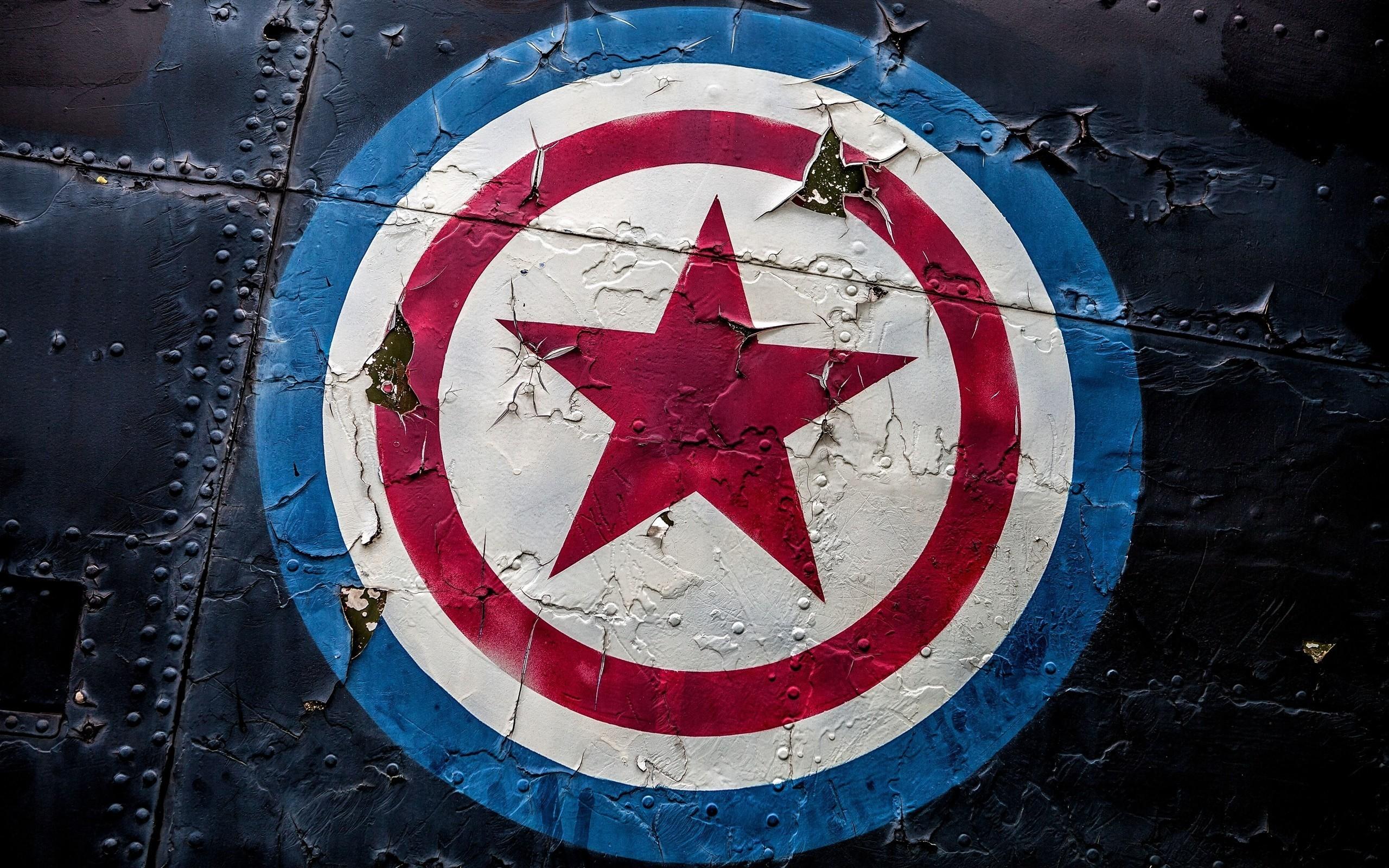 Captain America Shield Logo Art