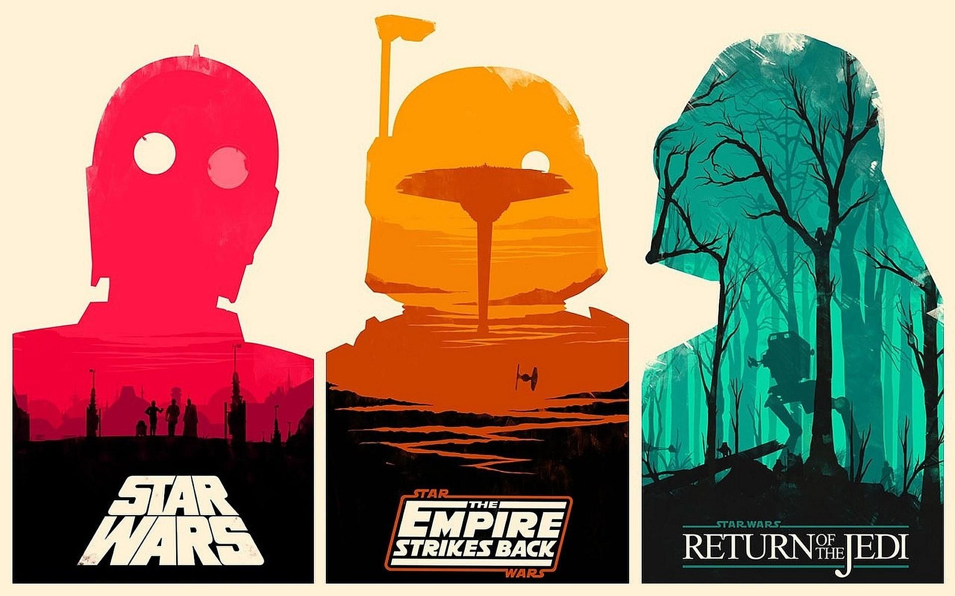 Boba Fett C-3PO Darth Vader Movies Return Of The Jedi Star Wars Empire  Strikes Back