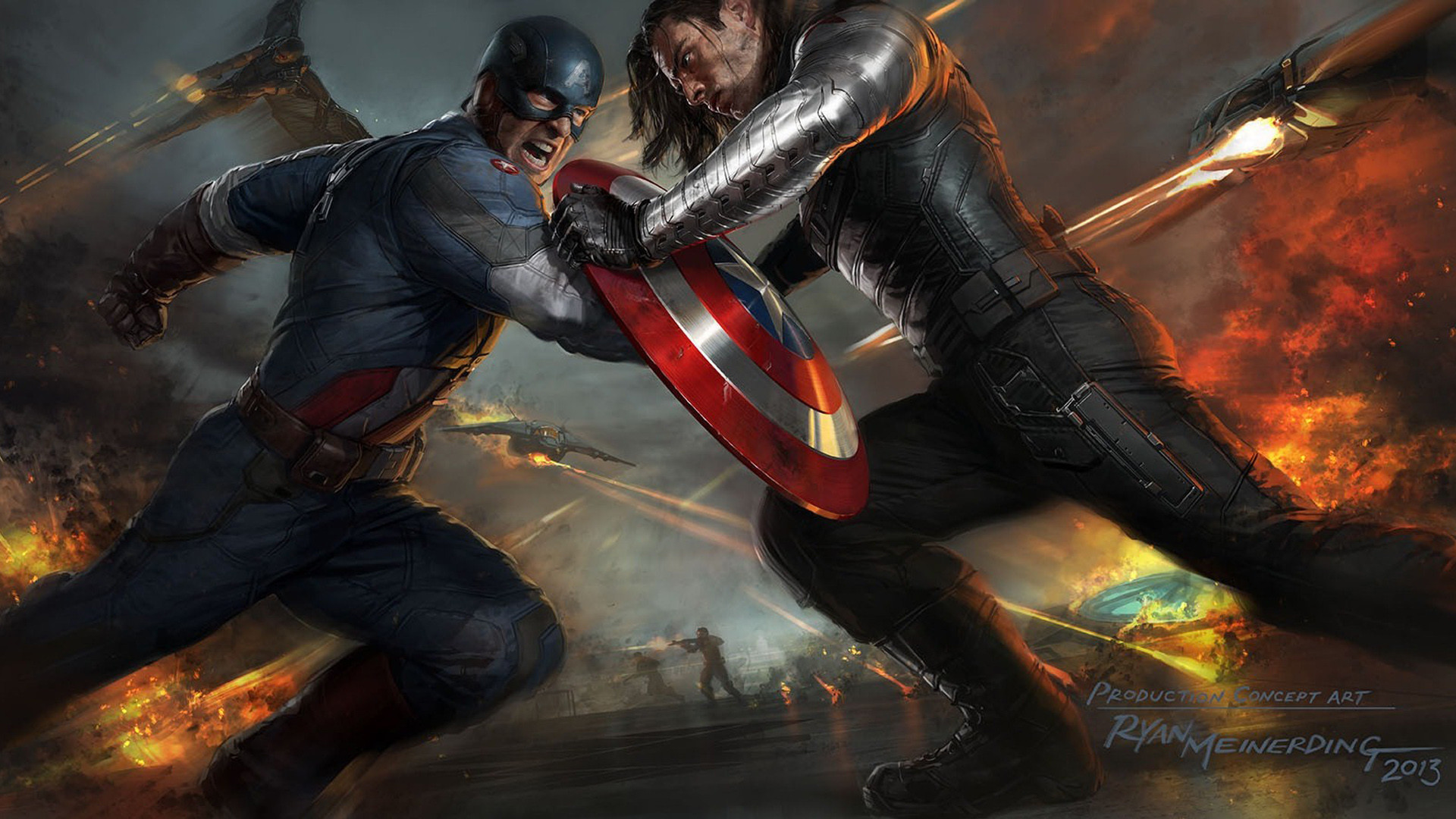 Captain America The Winter Soldier Artwork Wallpapers   HD Wallpapers