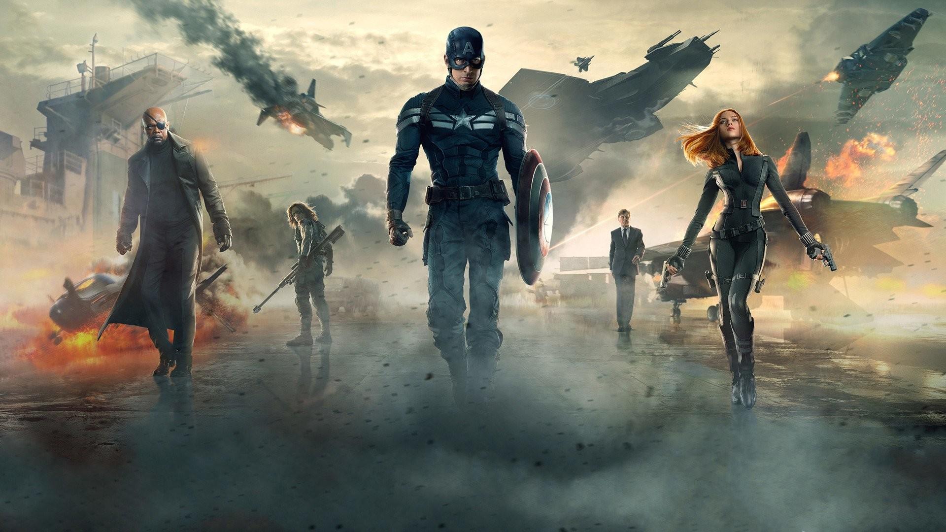 Movie – Captain America: The Winter Soldier Captain America Black Widow  Natasha Romanoff Scarlett Johansson
