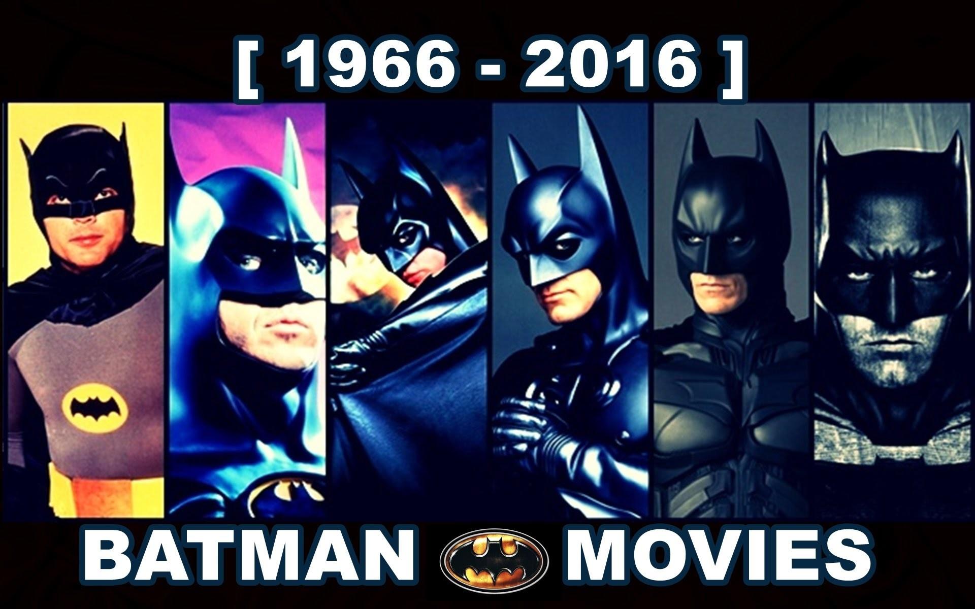 Batman movies [ 1966 – 2016 ]
