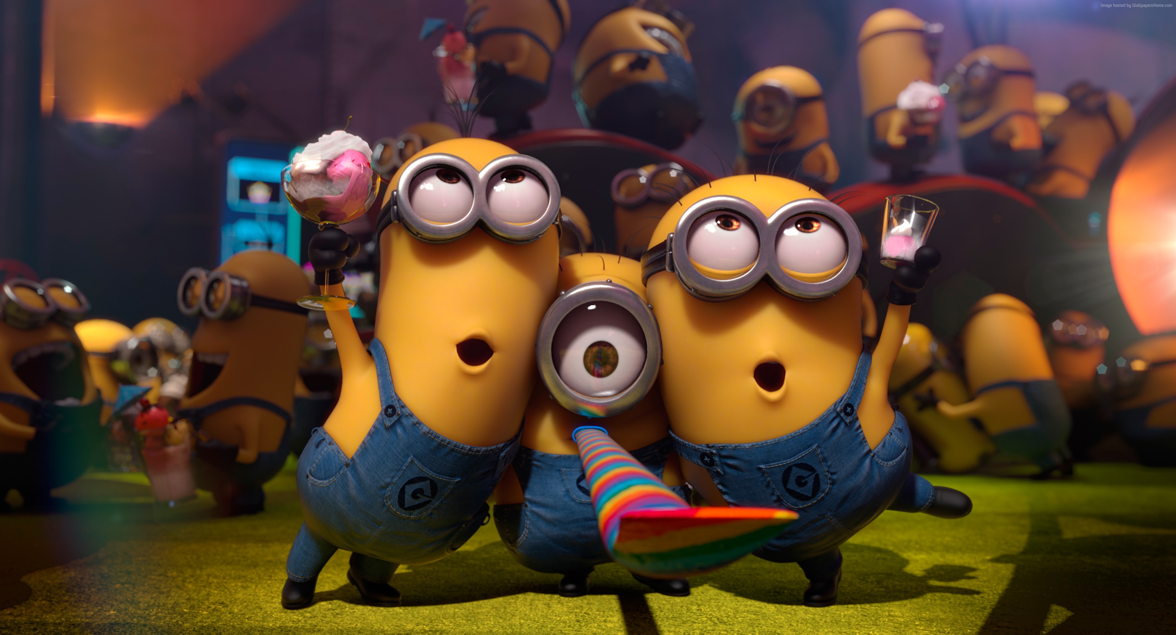 Related Wallpapers. Minions, cartoon, Best Animation Movies of 2015,  yellow, funny (horizontal) …