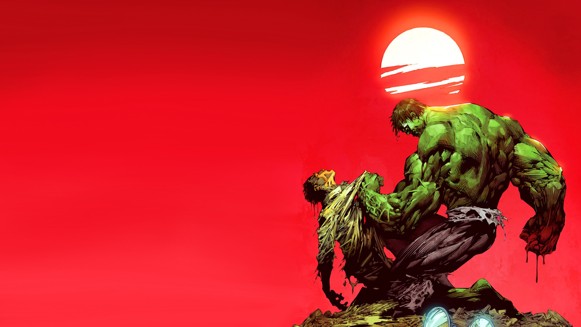 Dr. Bruce Banner Versus The Incredible Hulk HD Desktop Background