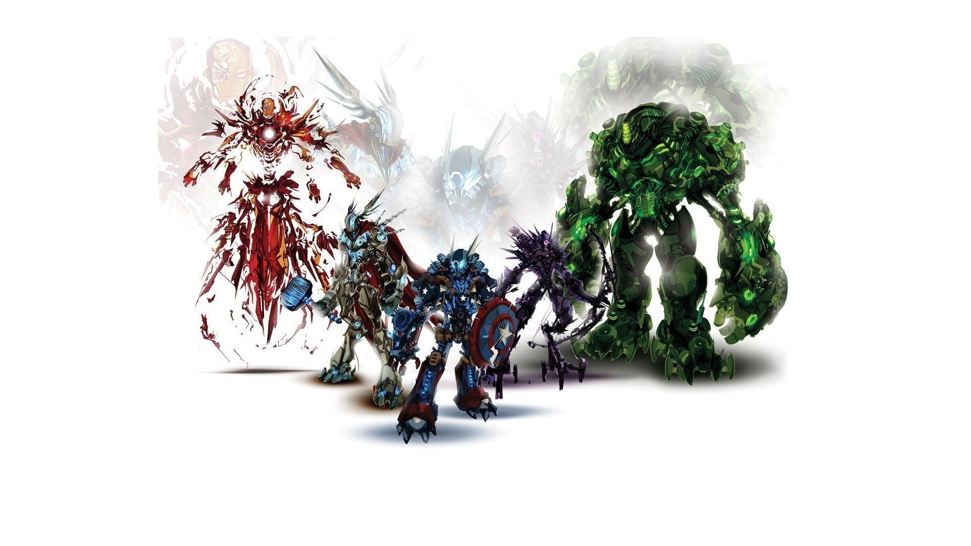 Download Wallpaper Gears heroes, Marvel, Avengers, Iron .