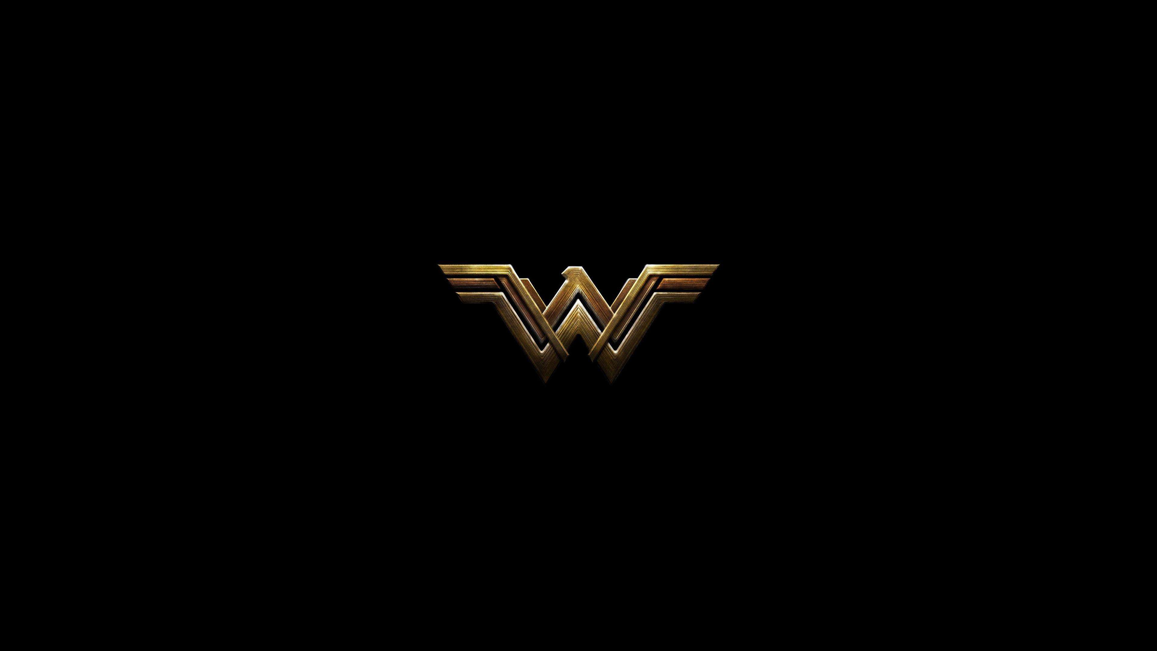 Wonder Woman Dark Logo 4k
