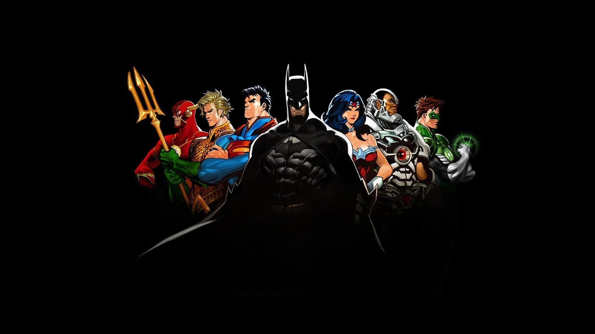 Comics DC Justice League The Flash Batman Superman Wonder Woman Cyborg  Green Lantern Aquaman