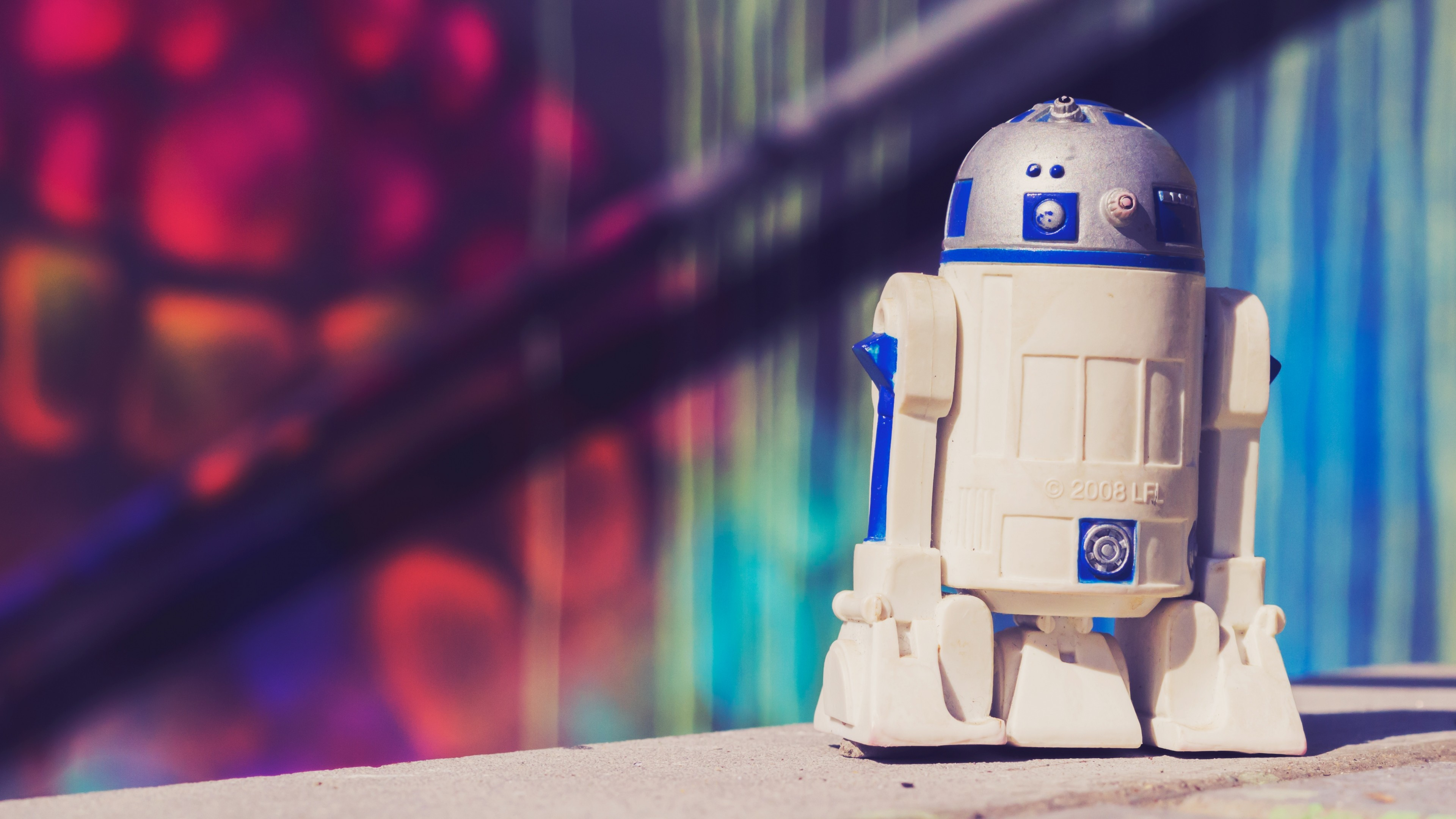 Preview wallpaper r2d2, drone, star wars, toy 3840×2160