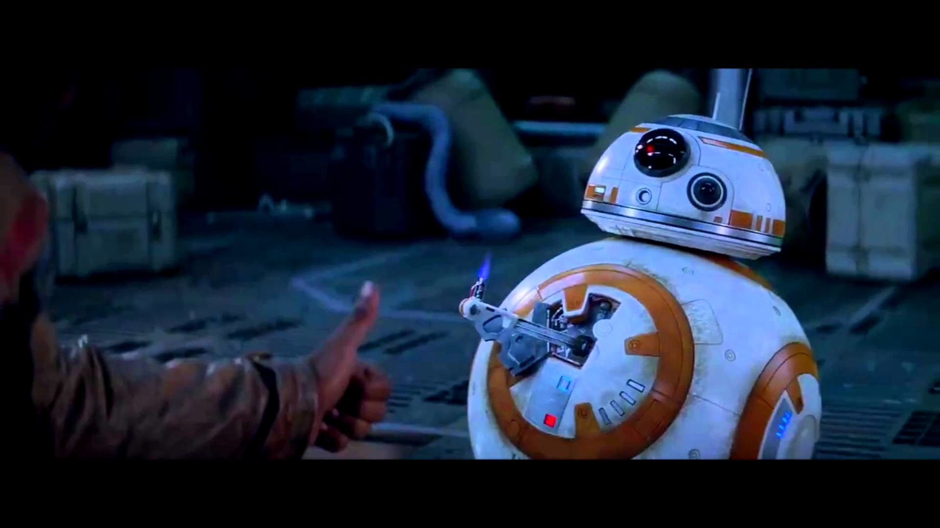 BB-8 Thumbs Up With Finn Scene [HD] (1080p) From Star Wars The Force Awakens