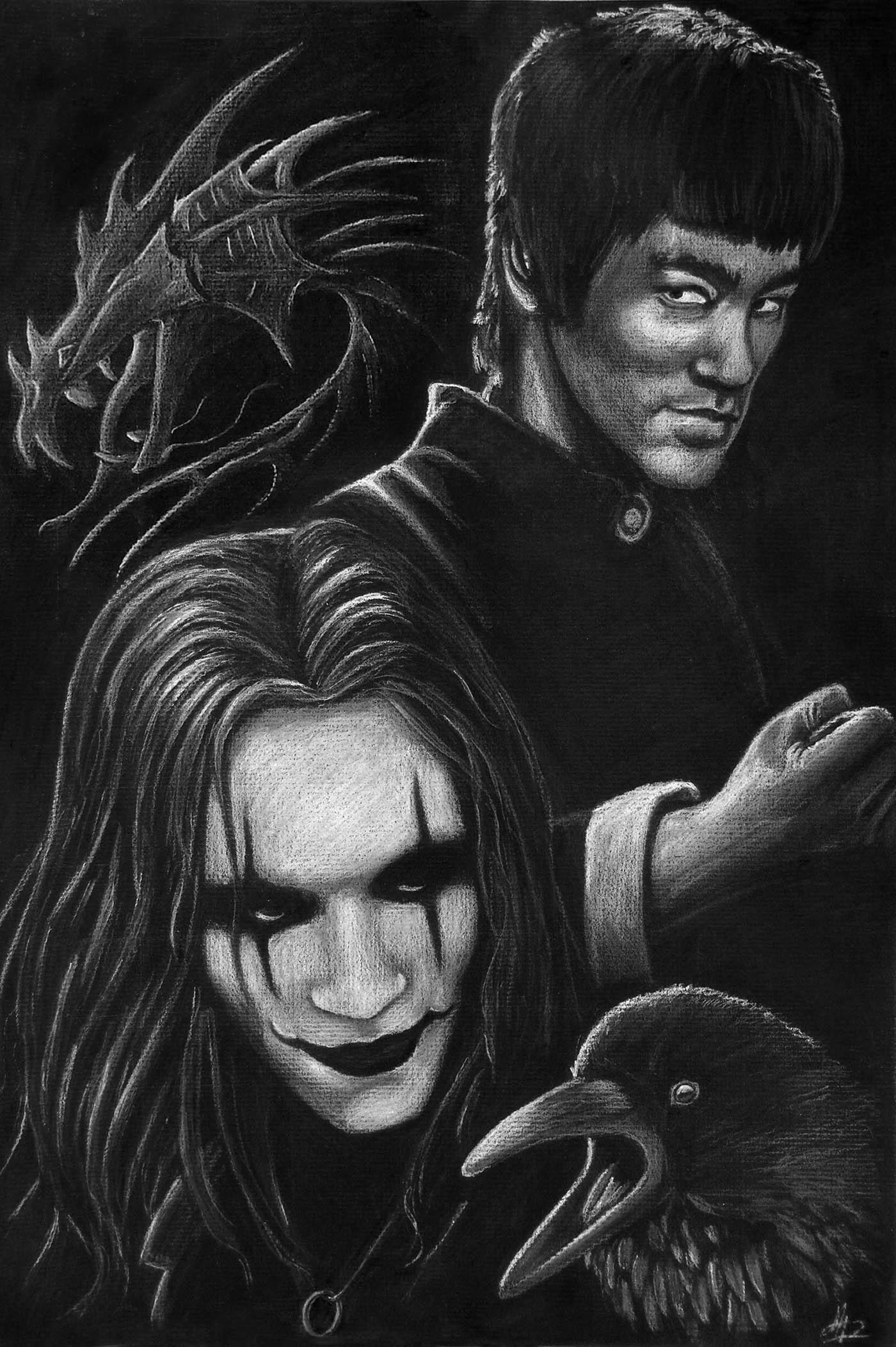 Brandon Lee/Bruce Lee/Crow/The Dragon