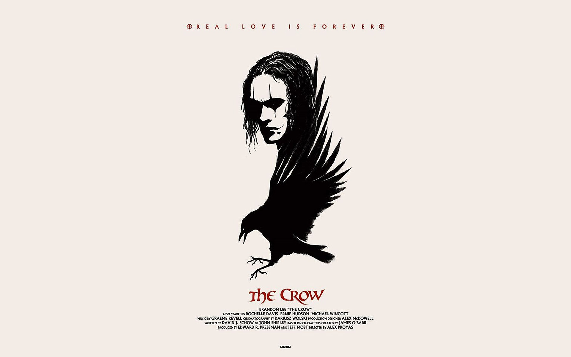 Living room home wall decoration fabric poster The Crow The Crow Brandon  movies fan art EX149