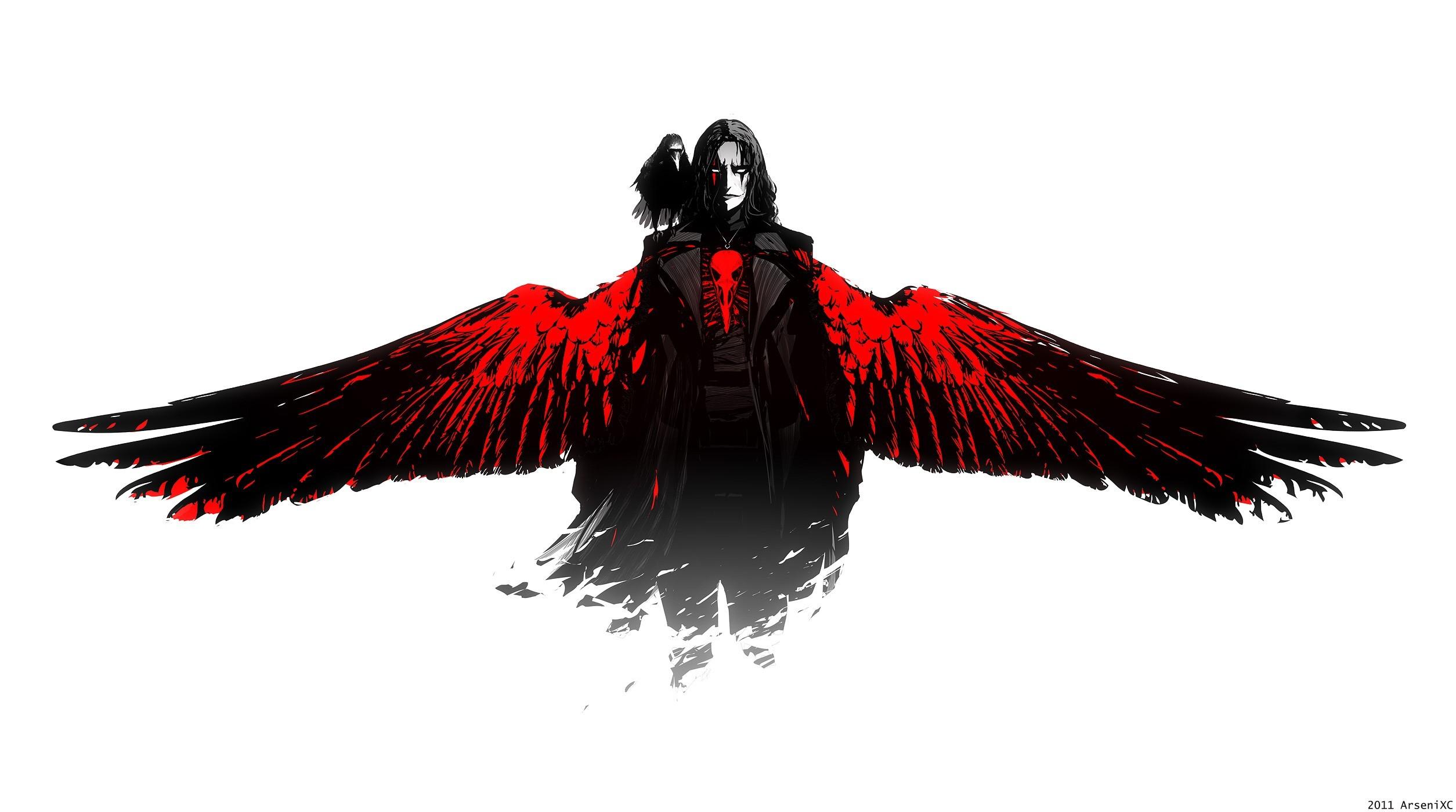 wallpaper wings · black angel · The Crow · Brandon Lee