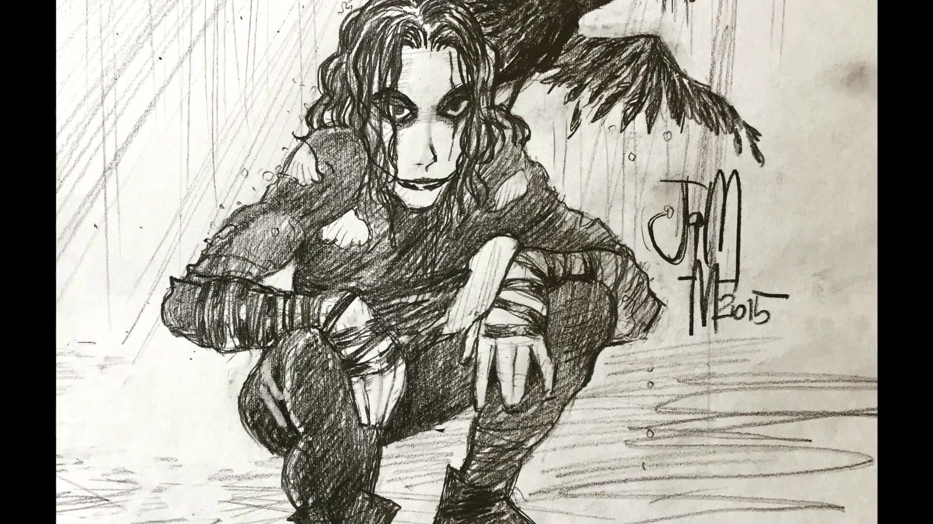 Drawing of The Crow Brandon Lee