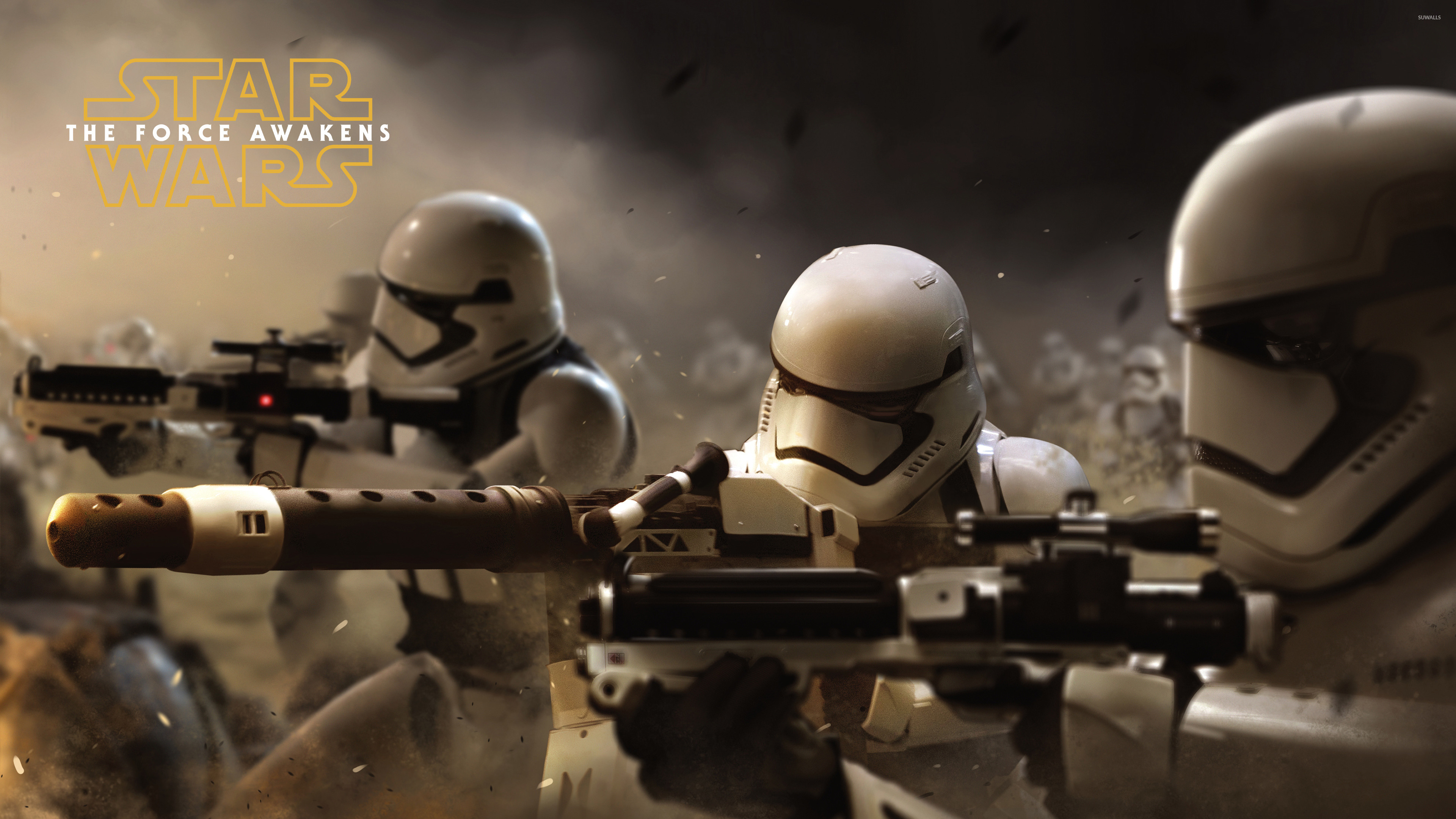 Stormtroopers in Star Wars: The Force Awakens wallpaper