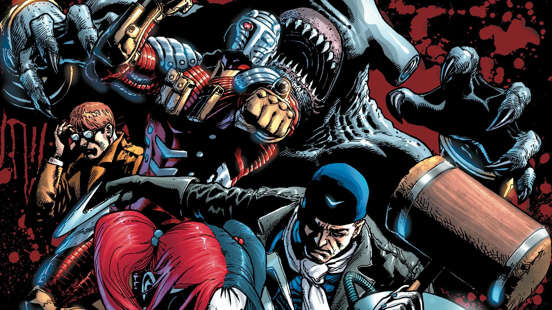 Preview wallpaper suicide squad, 2015, margot robbie, harley quinn, comics  1920×1080