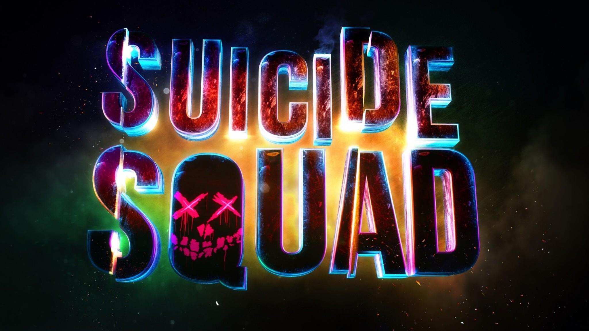 Preview wallpaper suicide squad, logo, art 2048×1152