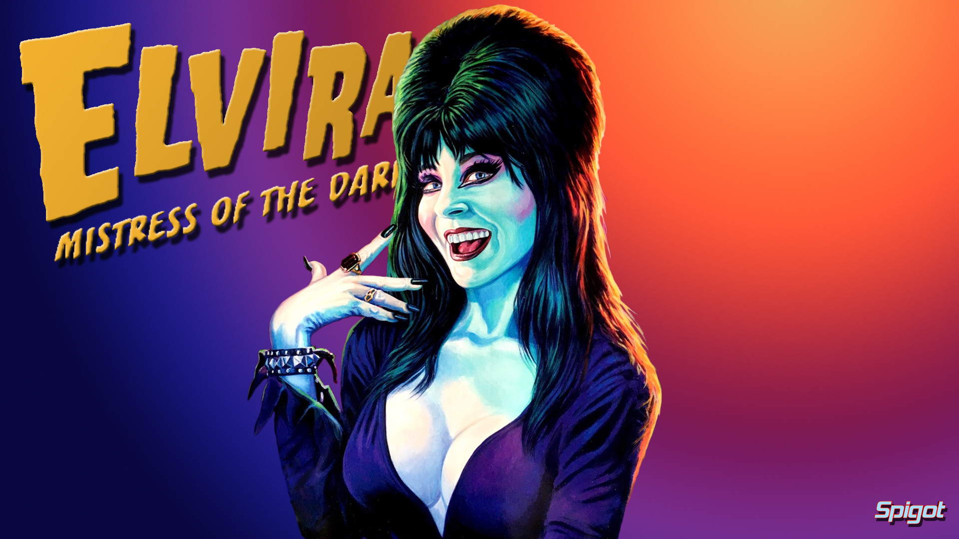 I've been so busy of late but couldn't let my favorite holiday (time of  year) go by with out some Elvira wallpapers.