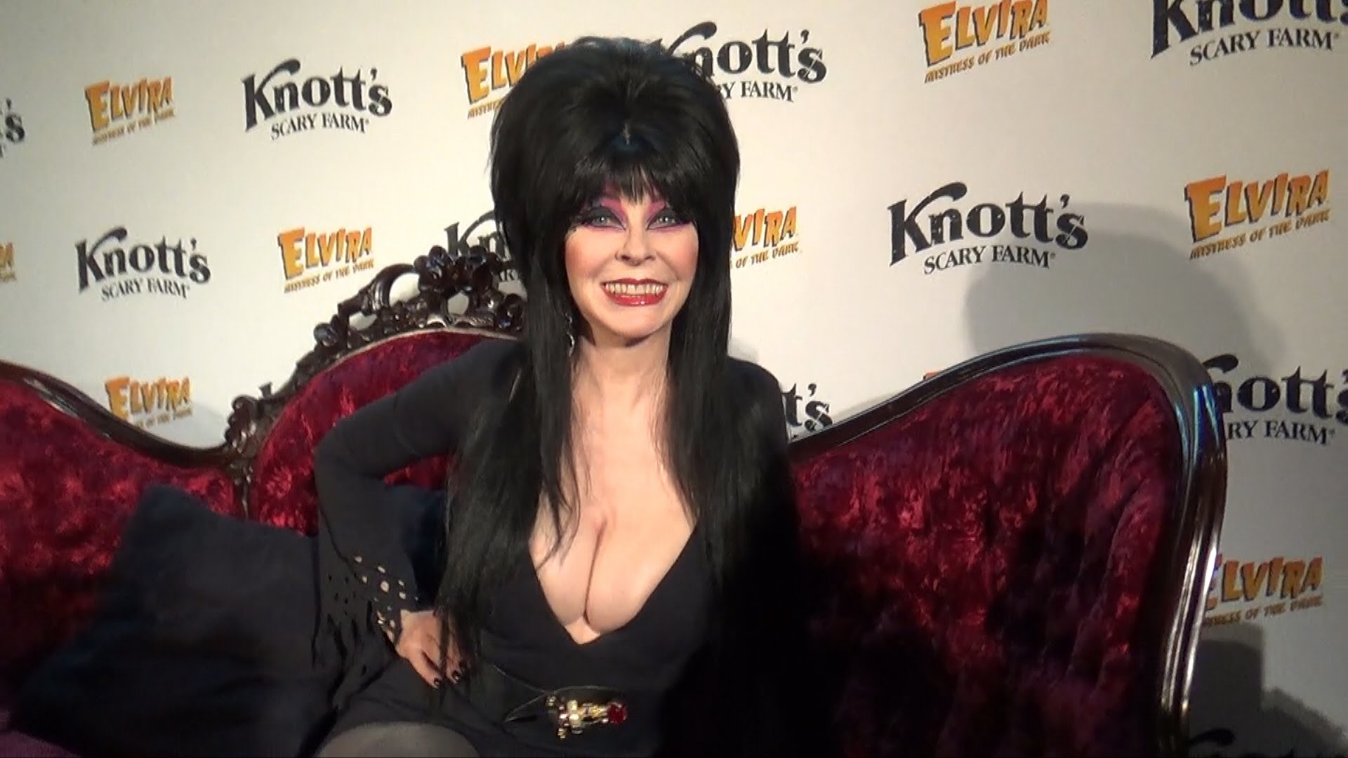 Elvira: Mistress of the Dark (Cassandra Peterson) Interview at Knott's  Scary Farm Halloween Preview – YouTube