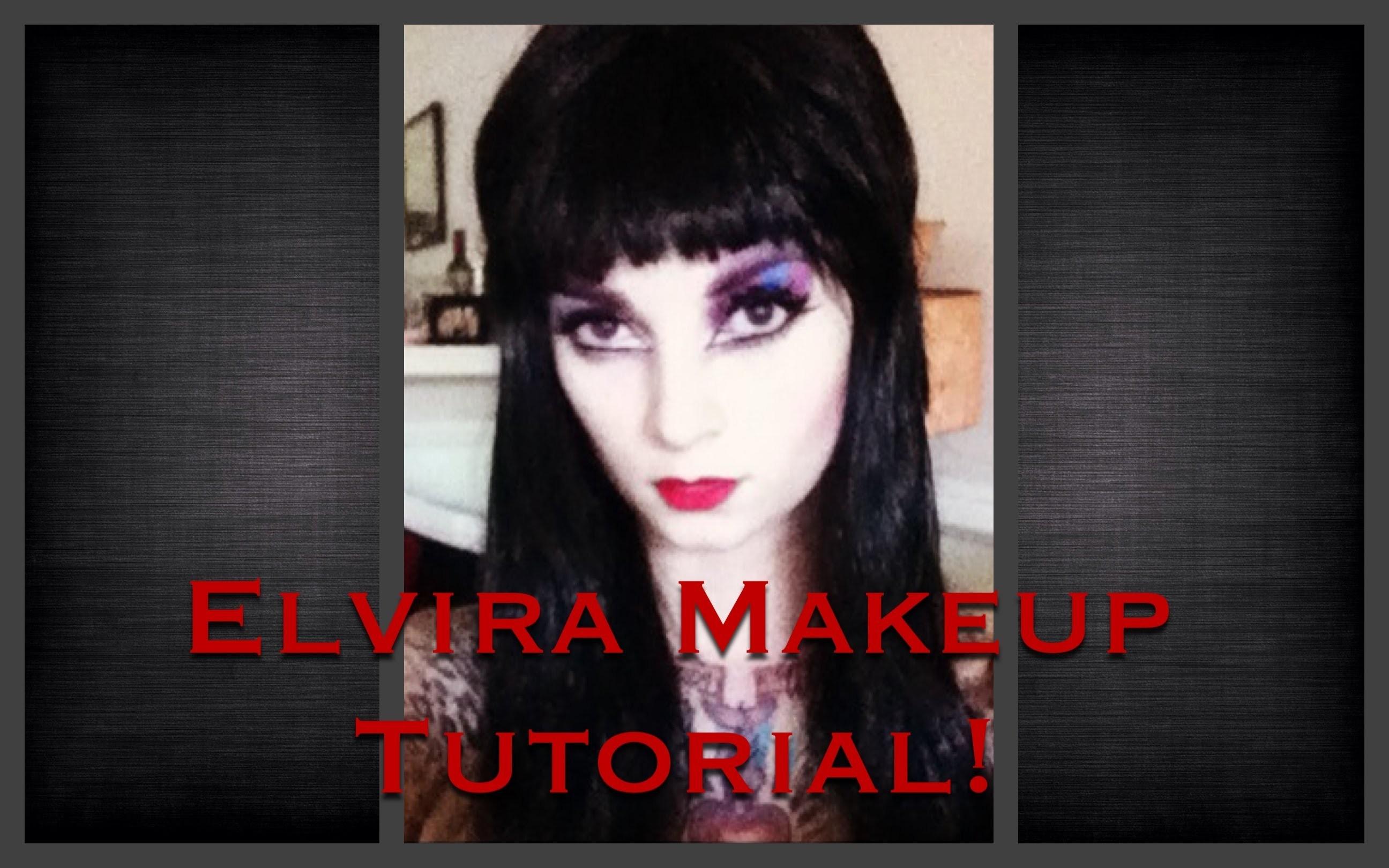 Elvira Makeup Tutorial for Halloween by CHERRY DOLLFACE .