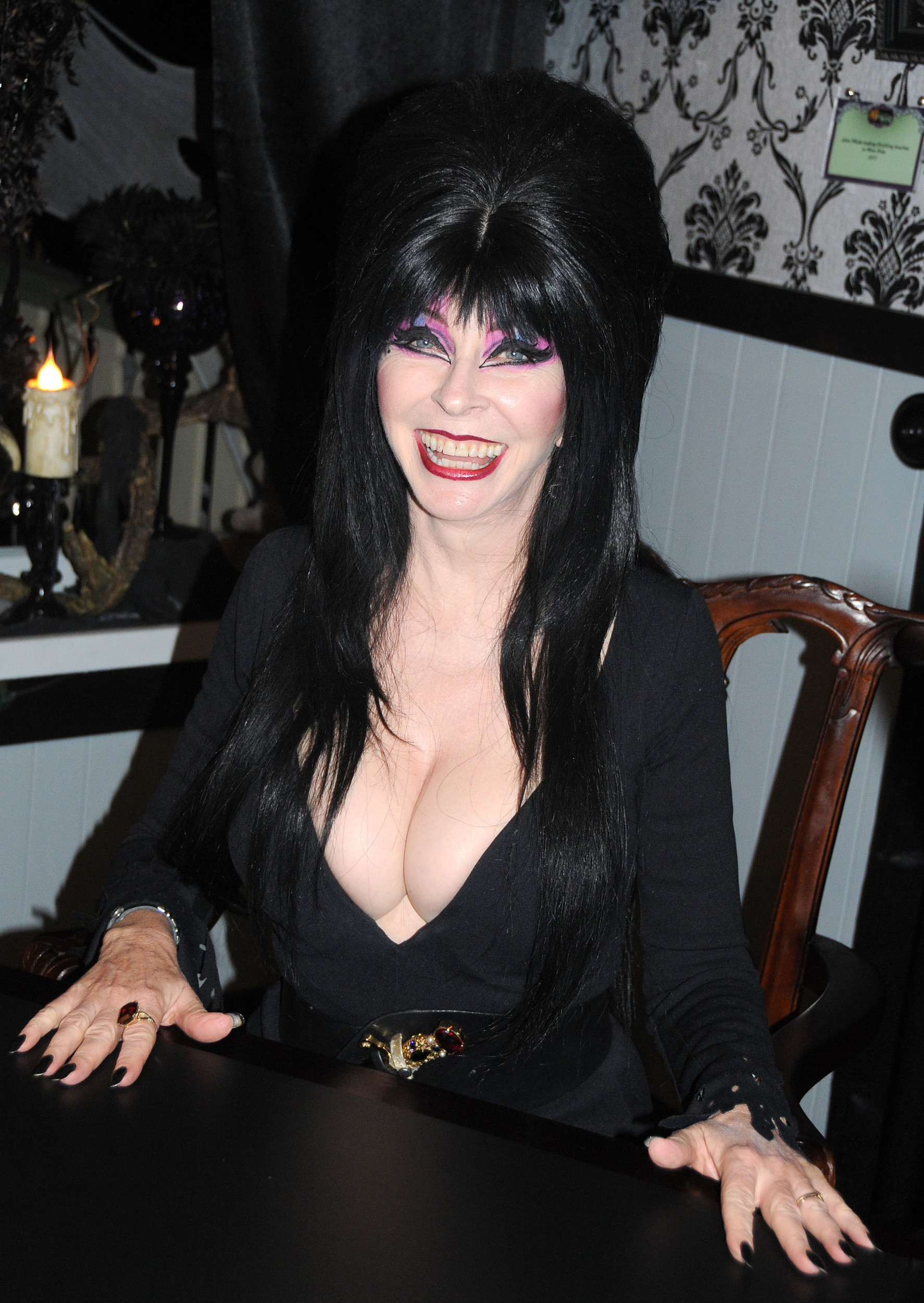 Never-before-seen photos of Elvira released in 'coffin-table book'