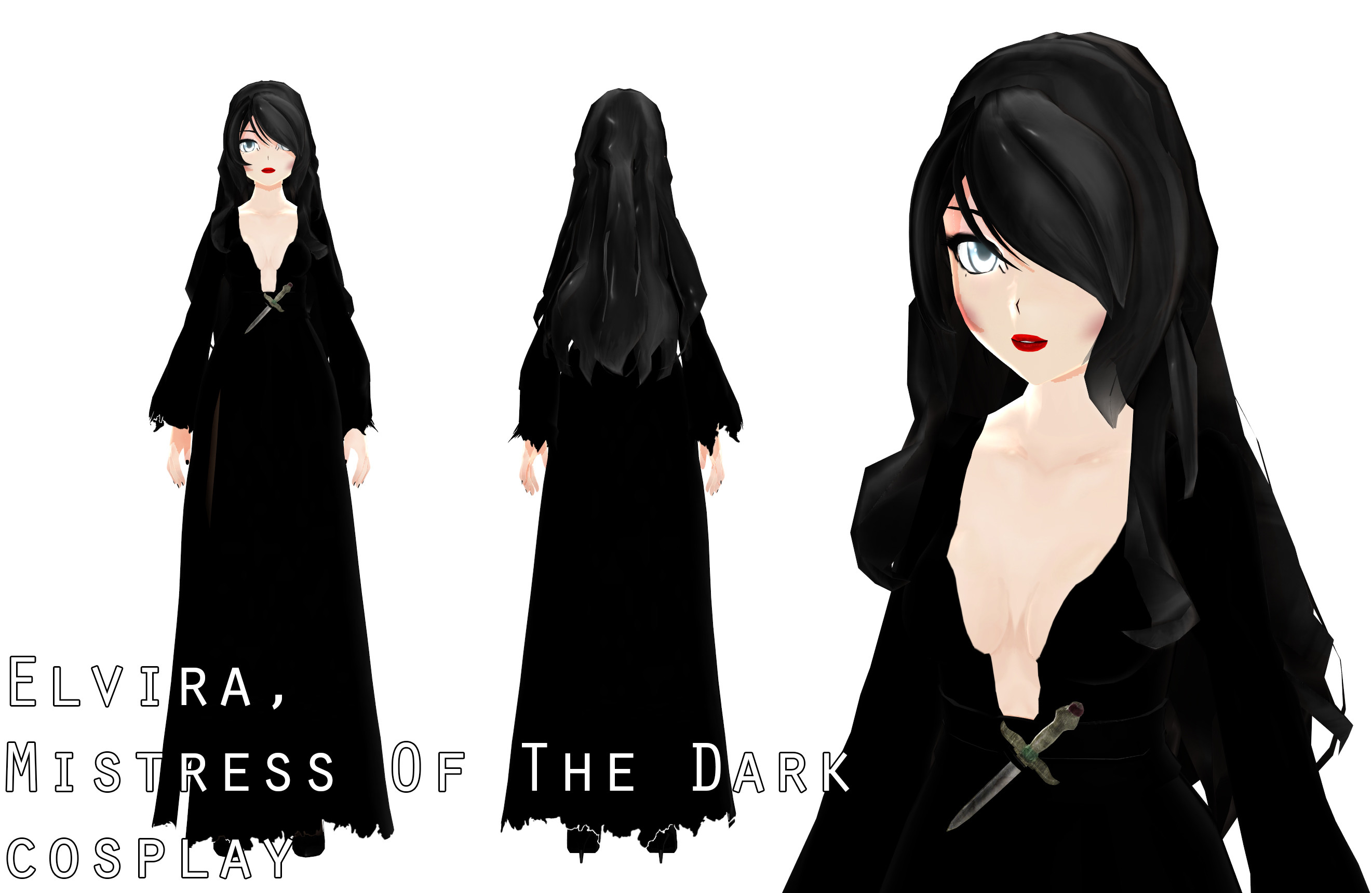 … ElviraMoa ~Elvira, Mistress Of The Dark cosplay~Halloween~ by ElviraMoa