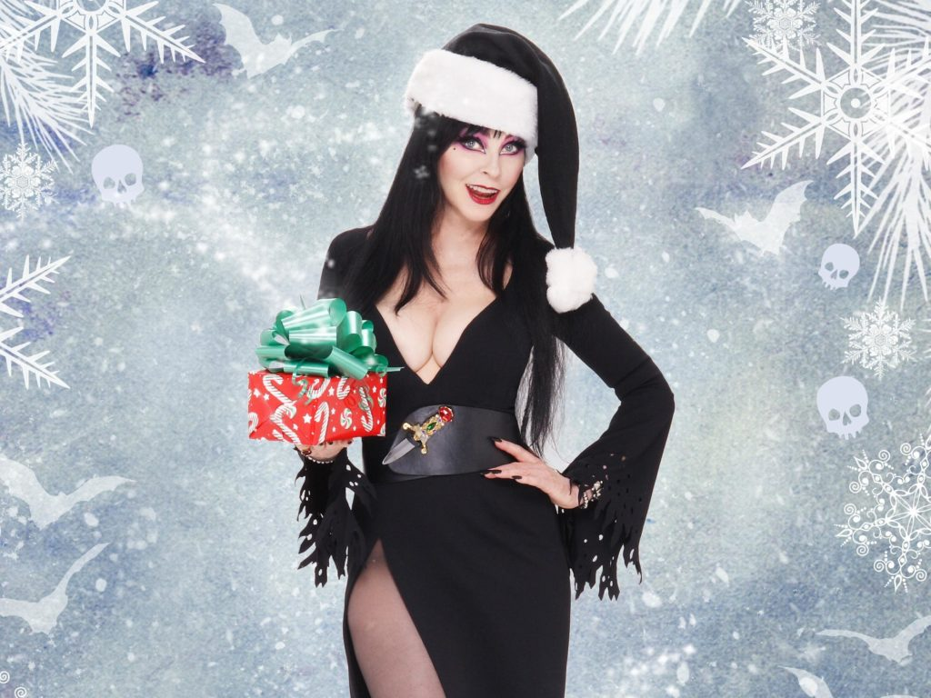 Elvira celebrates Christmas.